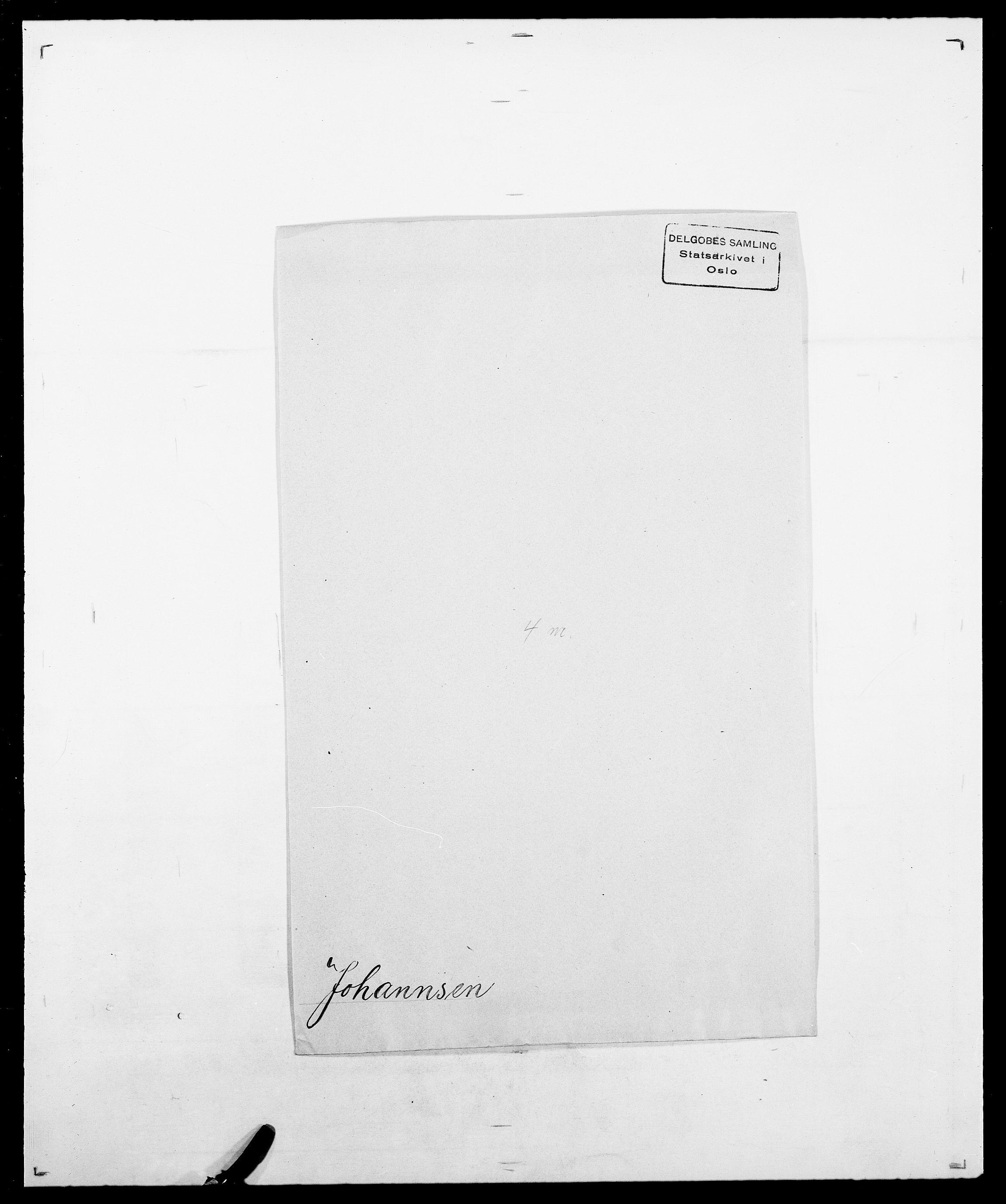 SAO, Delgobe, Charles Antoine - samling, D/Da/L0019: van der Hude - Joys, s. 823