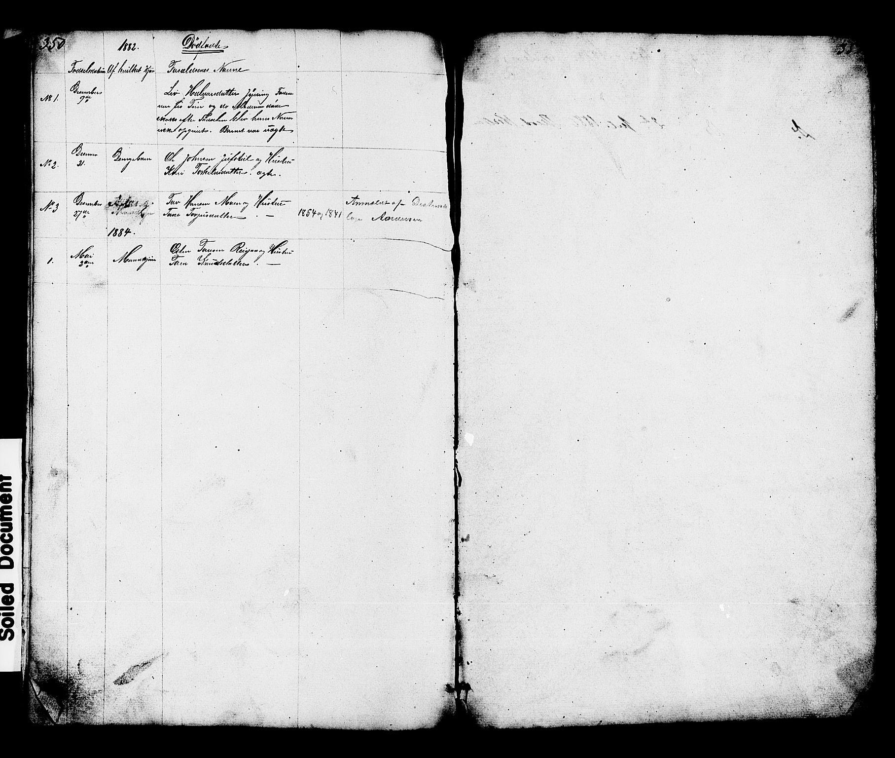 SAKO, Hjartdal kirkebøker, G/Gc/L0002: Klokkerbok nr. III 2, 1854-1890, s. 350-351