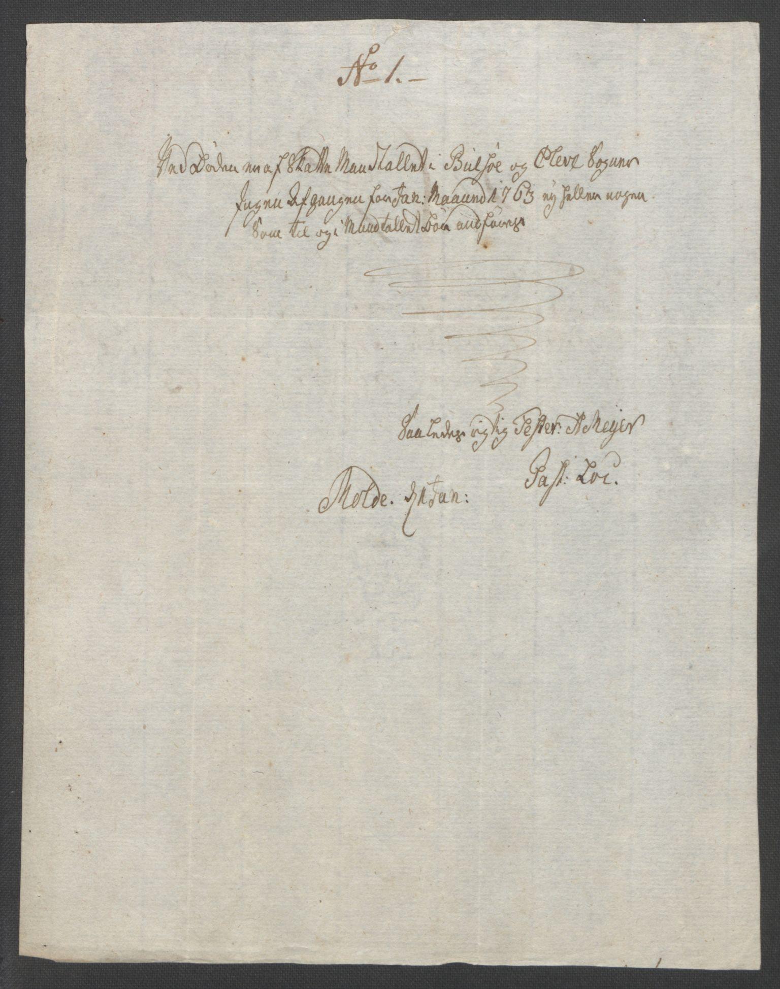 RA, Rentekammeret inntil 1814, Reviderte regnskaper, Fogderegnskap, R55/L3730: Ekstraskatten Romsdal, 1762-1763, s. 362