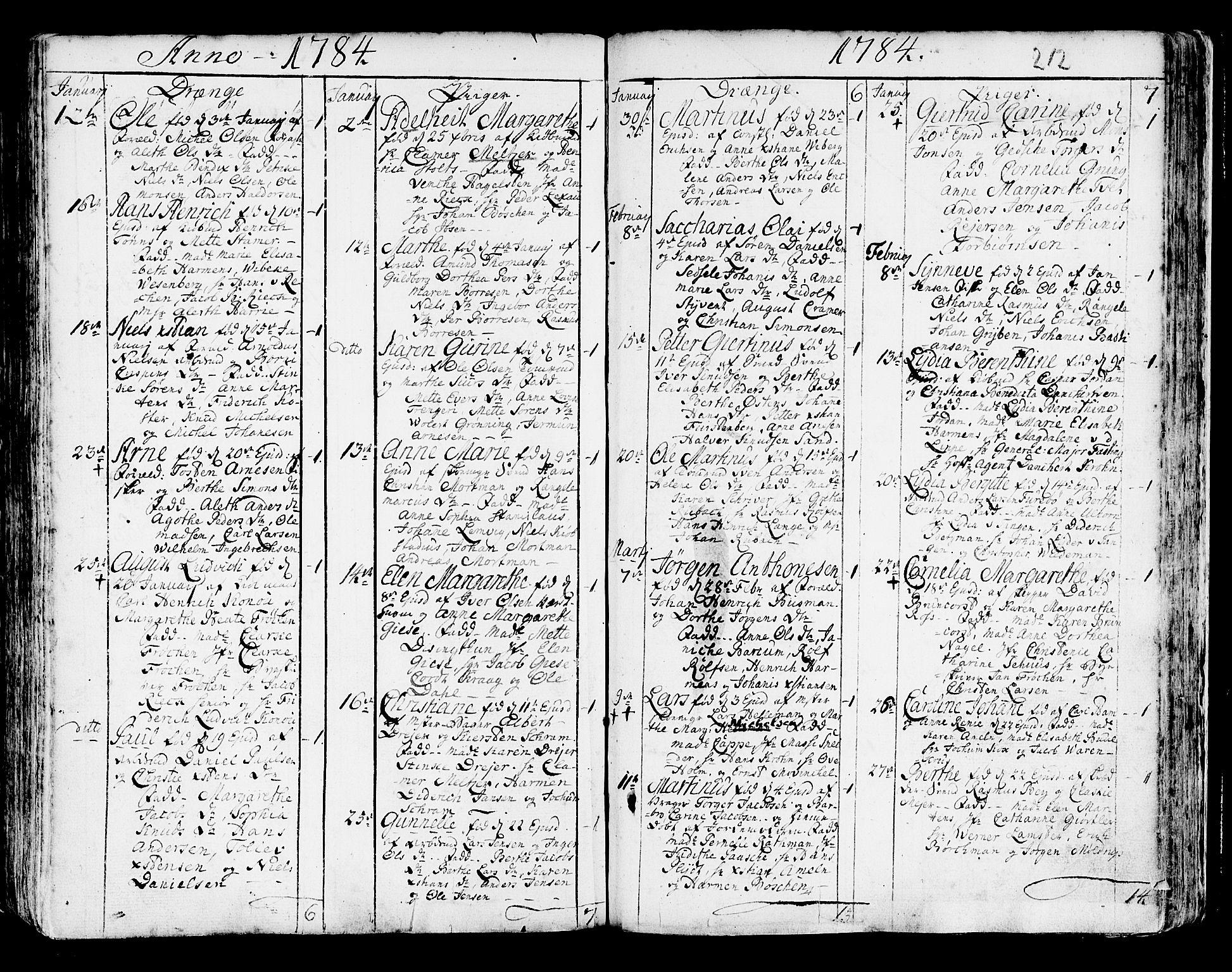 SAB, Korskirken Sokneprestembete, H/Haa/L0005: Ministerialbok nr. A 5, 1751-1789, s. 212