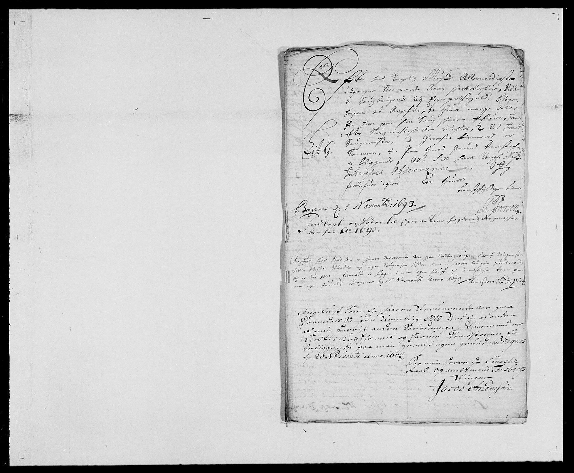RA, Rentekammeret inntil 1814, Reviderte regnskaper, Fogderegnskap, R28/L1690: Fogderegnskap Eiker og Lier, 1692-1693, s. 187