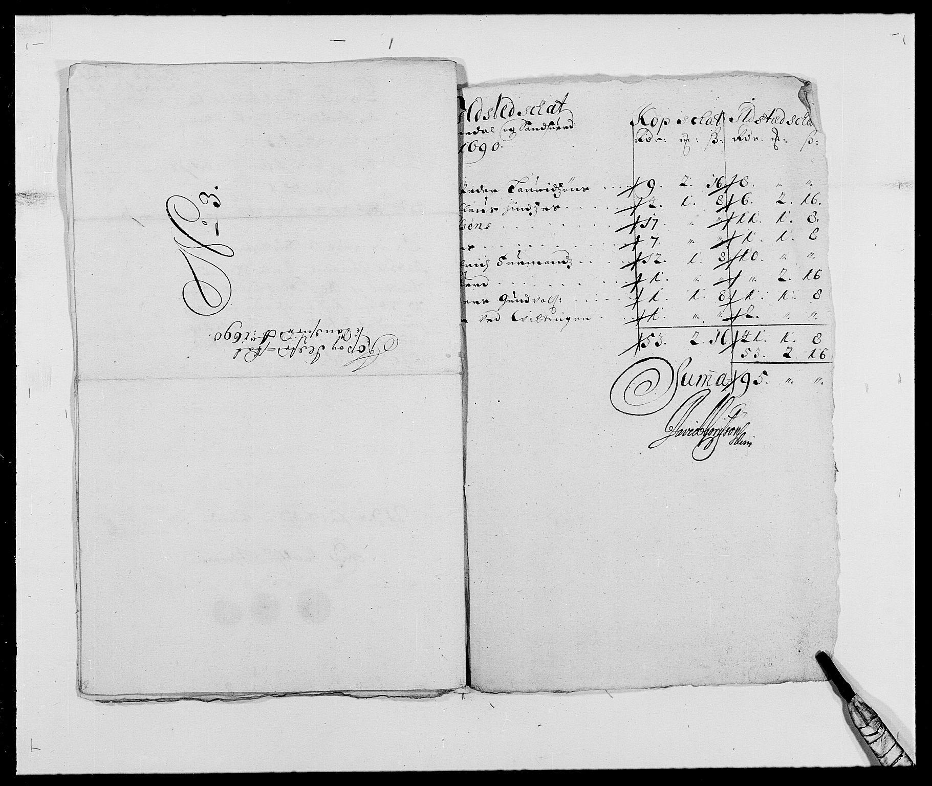 RA, Rentekammeret inntil 1814, Reviderte regnskaper, Fogderegnskap, R24/L1573: Fogderegnskap Numedal og Sandsvær, 1687-1691, s. 468
