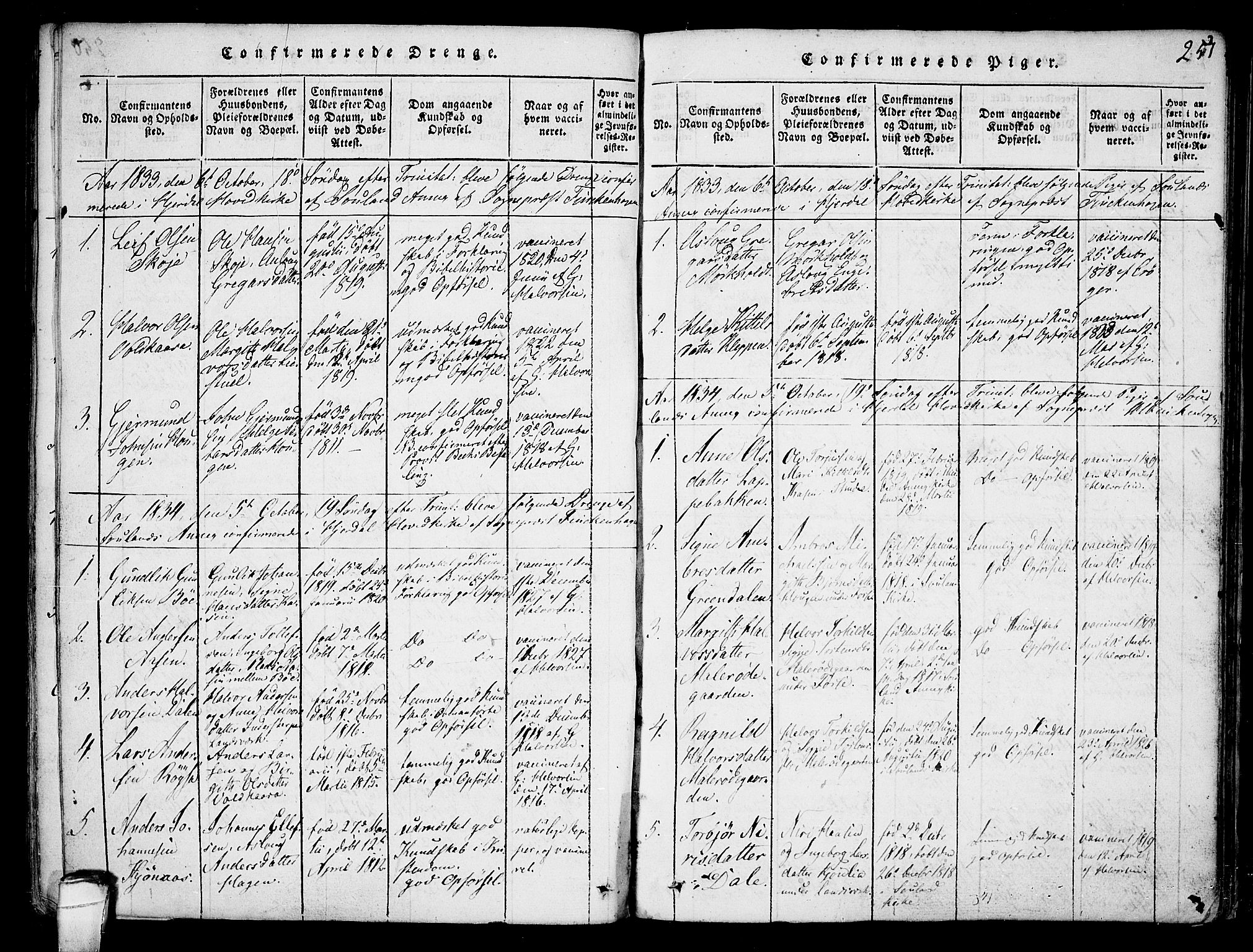 SAKO, Hjartdal kirkebøker, F/Fb/L0001: Ministerialbok nr. II 1, 1815-1843, s. 251