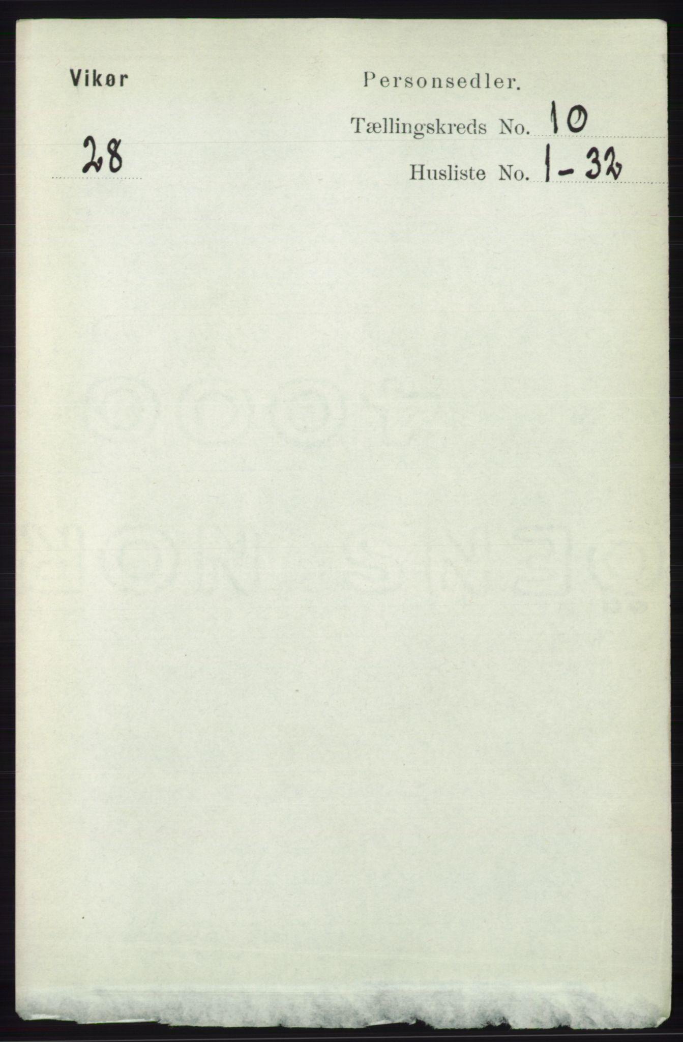 RA, Folketelling 1891 for 1238 Vikør herred, 1891, s. 2934