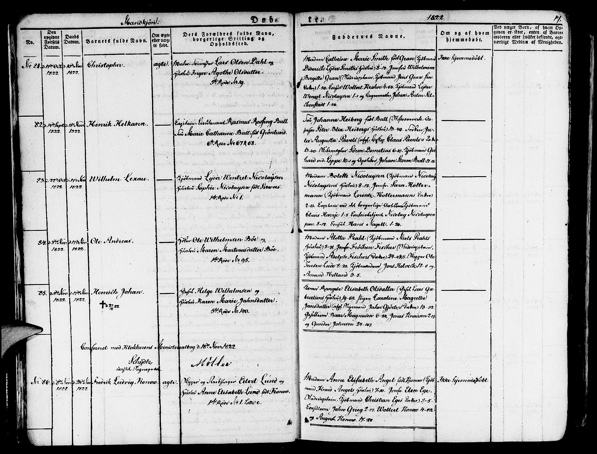 SAB, Nykirken Sokneprestembete, H/Haa: Ministerialbok nr. A 12, 1821-1844, s. 17