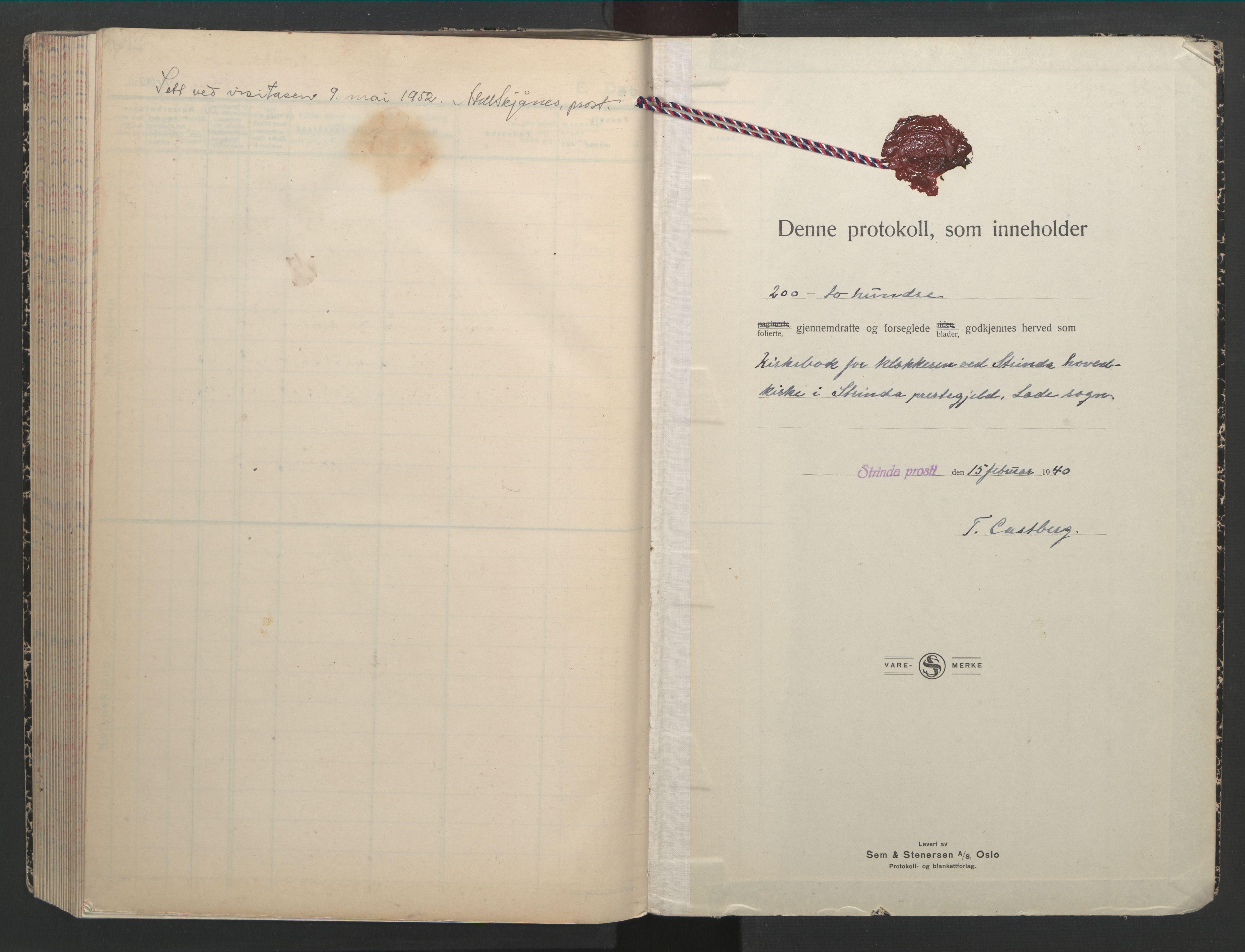 SAT, Ministerialprotokoller, klokkerbøker og fødselsregistre - Sør-Trøndelag, 607/L0328: Klokkerbok nr. 607C02, 1940-1948, s. 185