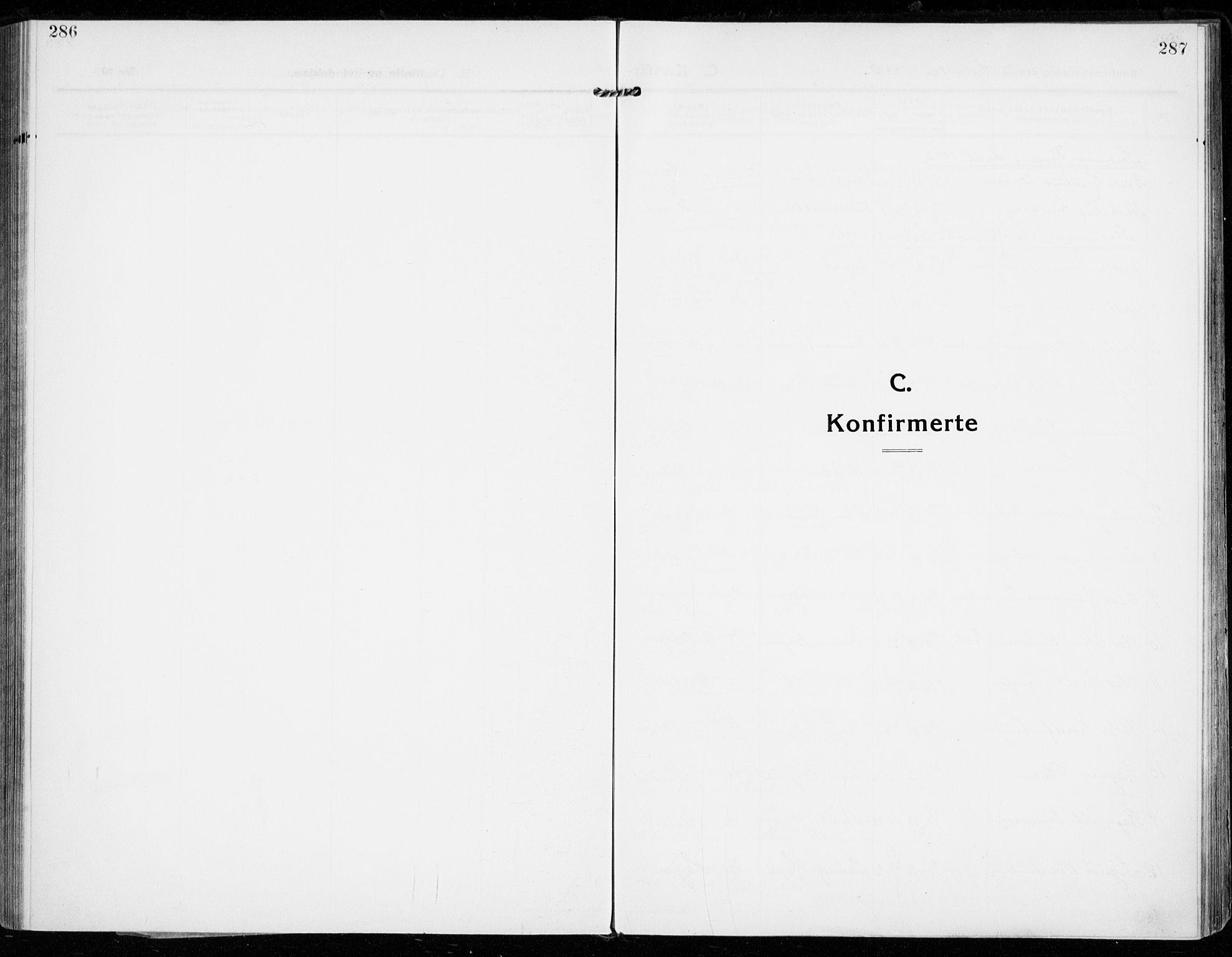 SAKO, Strømsgodset kirkebøker, F/Fa/L0002: Ministerialbok nr. 2, 1910-1920, s. 286-287