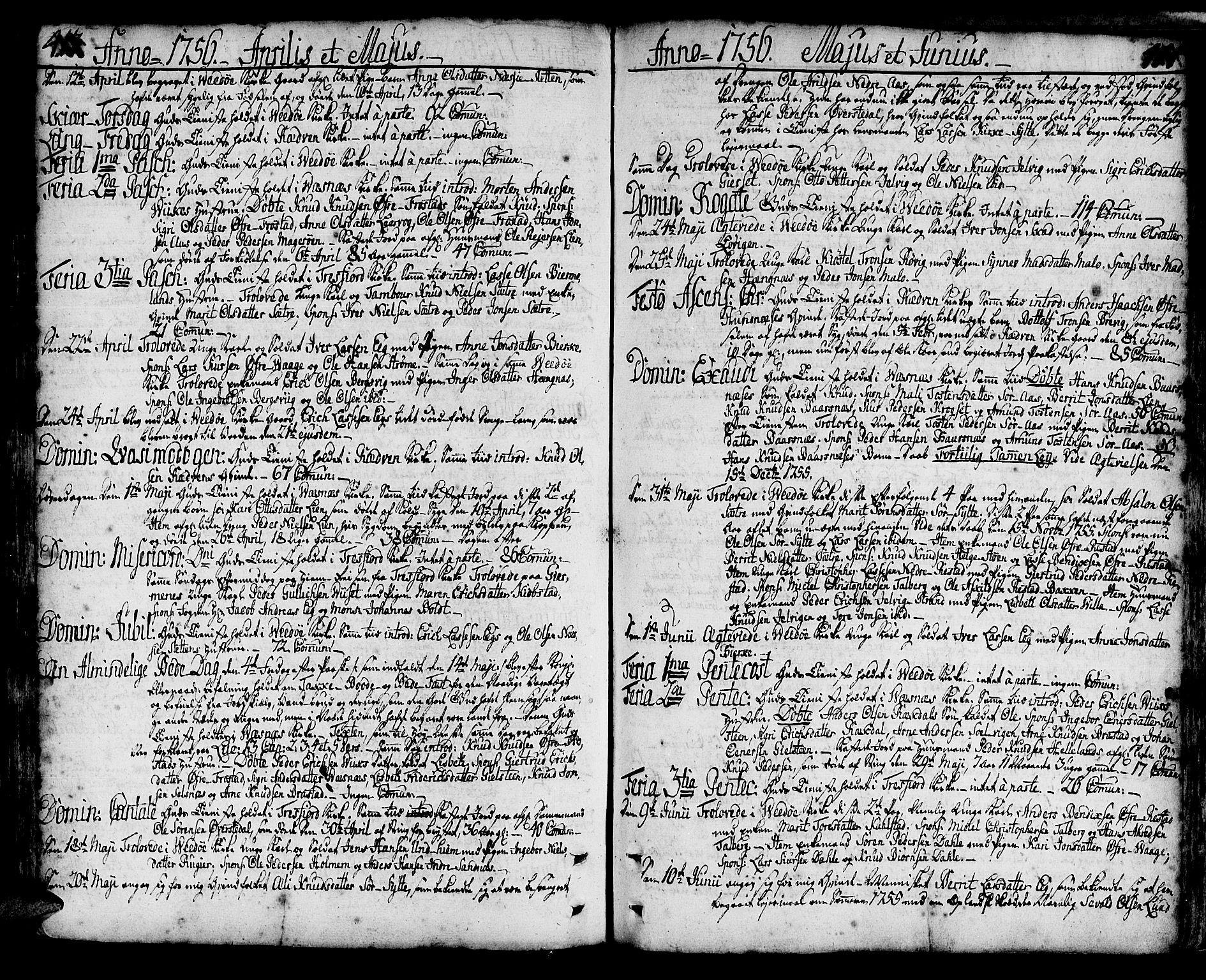 SAT, Ministerialprotokoller, klokkerbøker og fødselsregistre - Møre og Romsdal, 547/L0599: Ministerialbok nr. 547A01, 1721-1764, s. 413-414