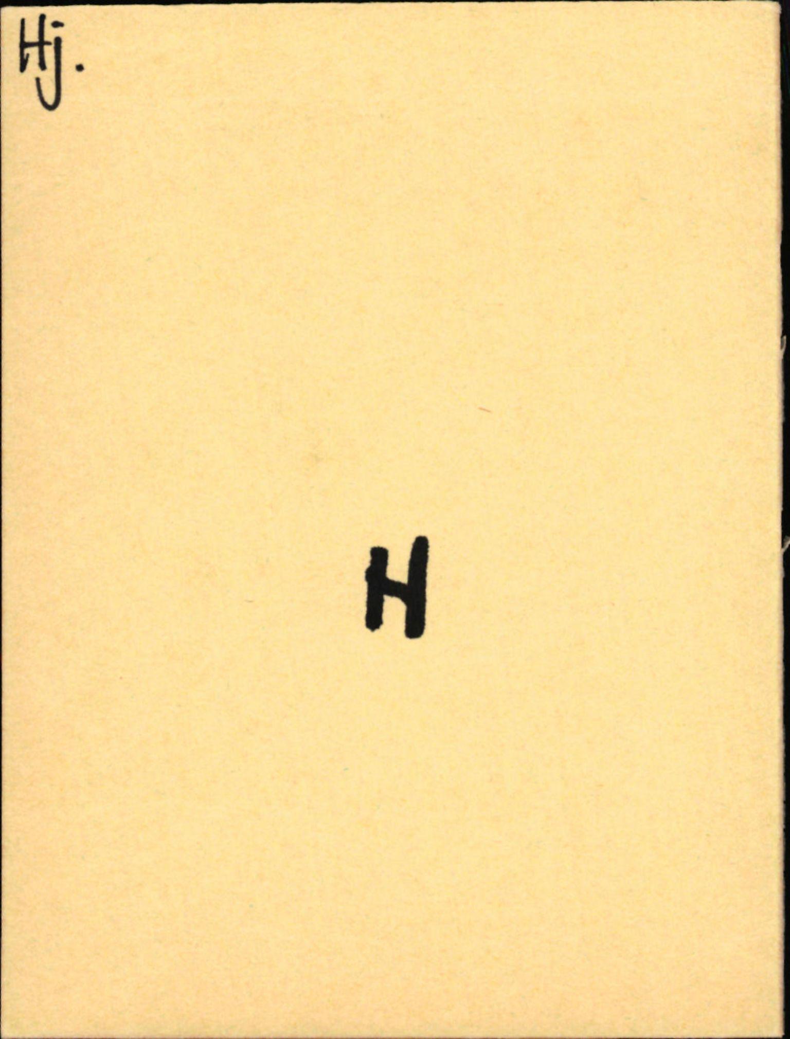 SAB, Statens vegvesen, Hordaland vegkontor, Ha/L0023: R-eierkort H, 1920-1971, s. 1