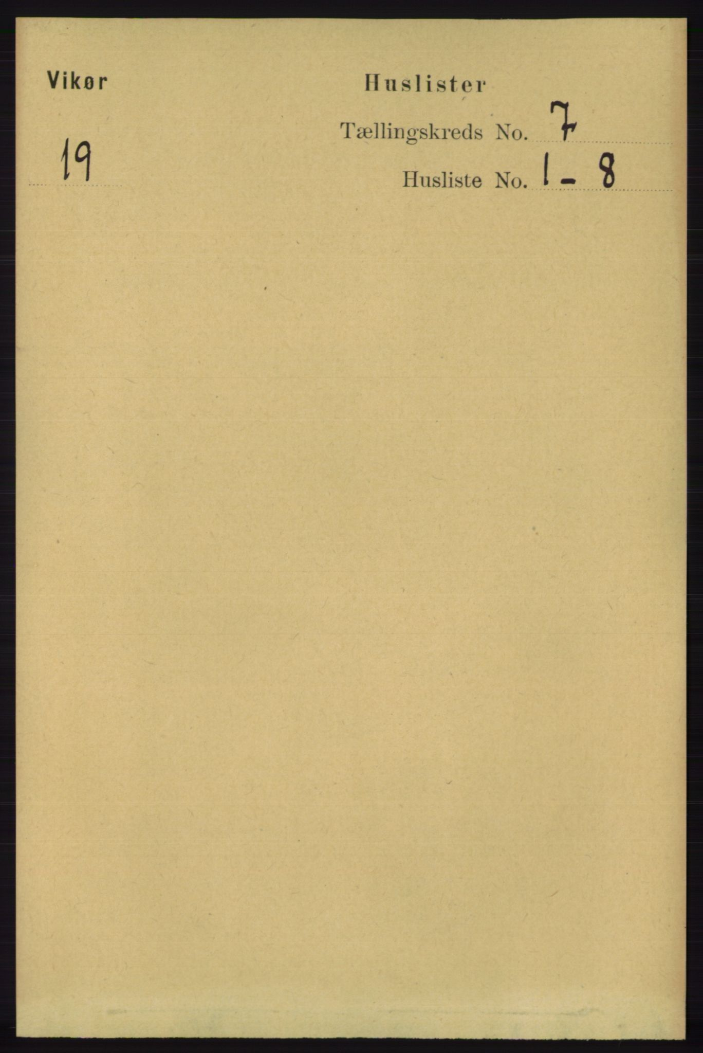 RA, Folketelling 1891 for 1238 Vikør herred, 1891, s. 2199