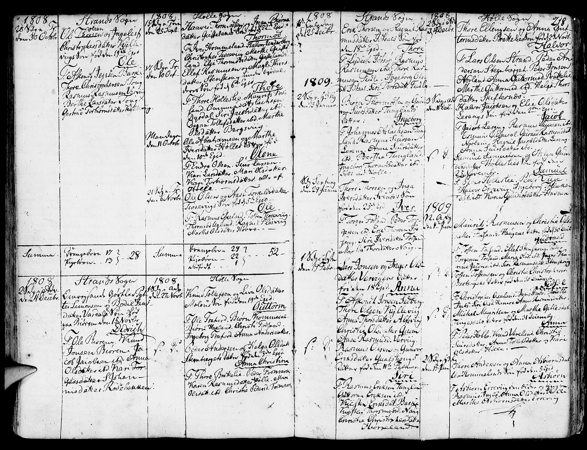 SAST, Strand sokneprestkontor, H/Ha/Haa/L0003: Ministerialbok nr. A 3, 1769-1816, s. 218