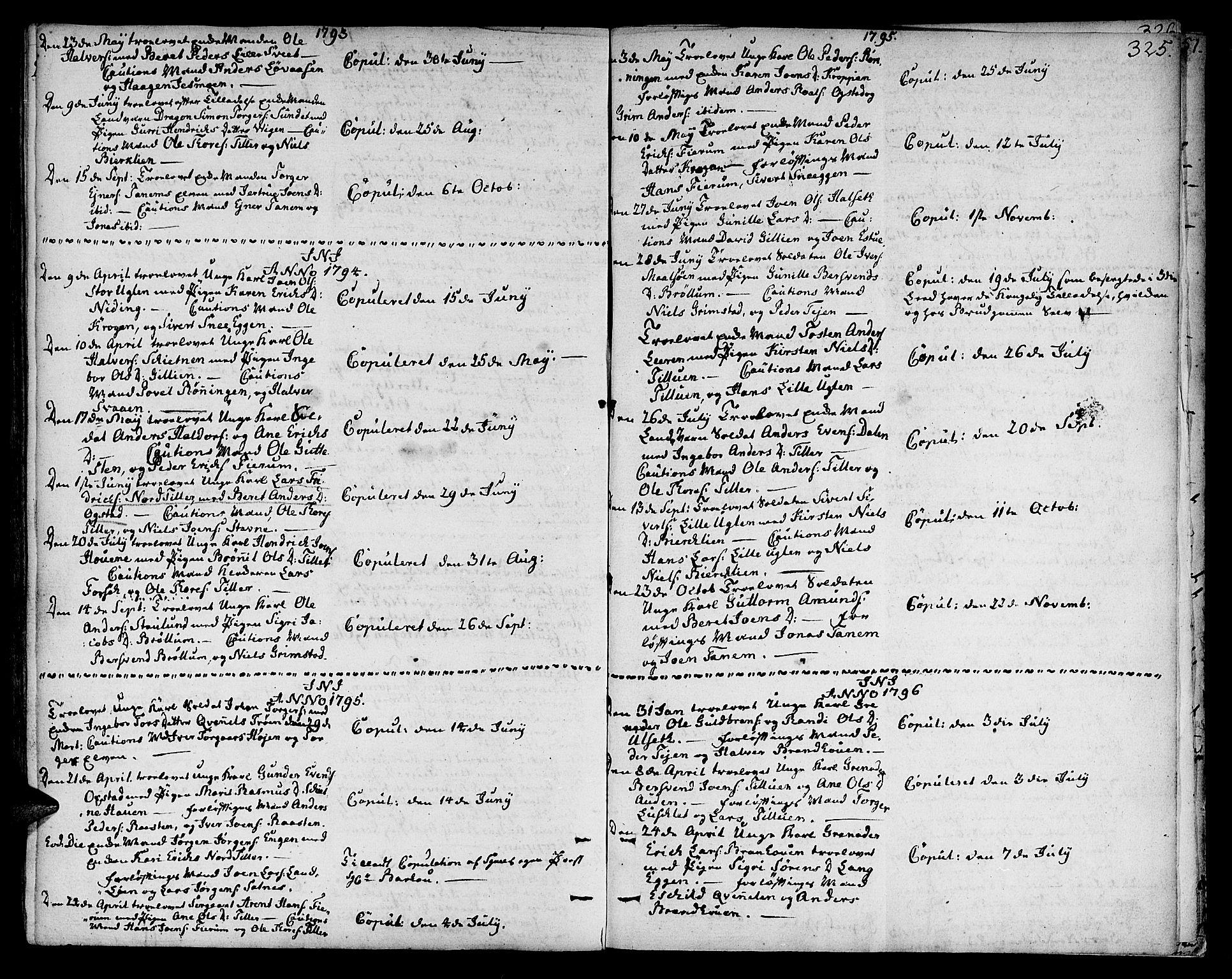 SAT, Ministerialprotokoller, klokkerbøker og fødselsregistre - Sør-Trøndelag, 618/L0438: Ministerialbok nr. 618A03, 1783-1815, s. 325