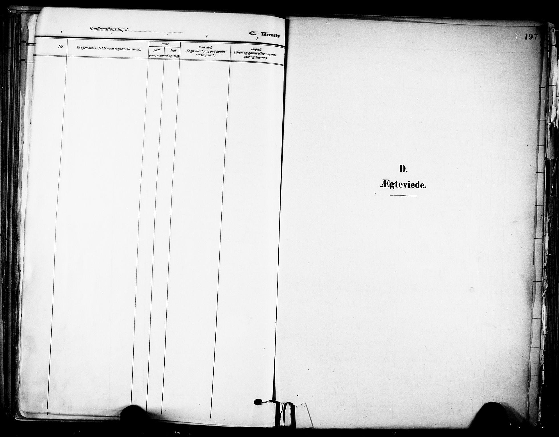 SAKO, Solum kirkebøker, F/Fa/L0011: Ministerialbok nr. I 11, 1898-1909, s. 197
