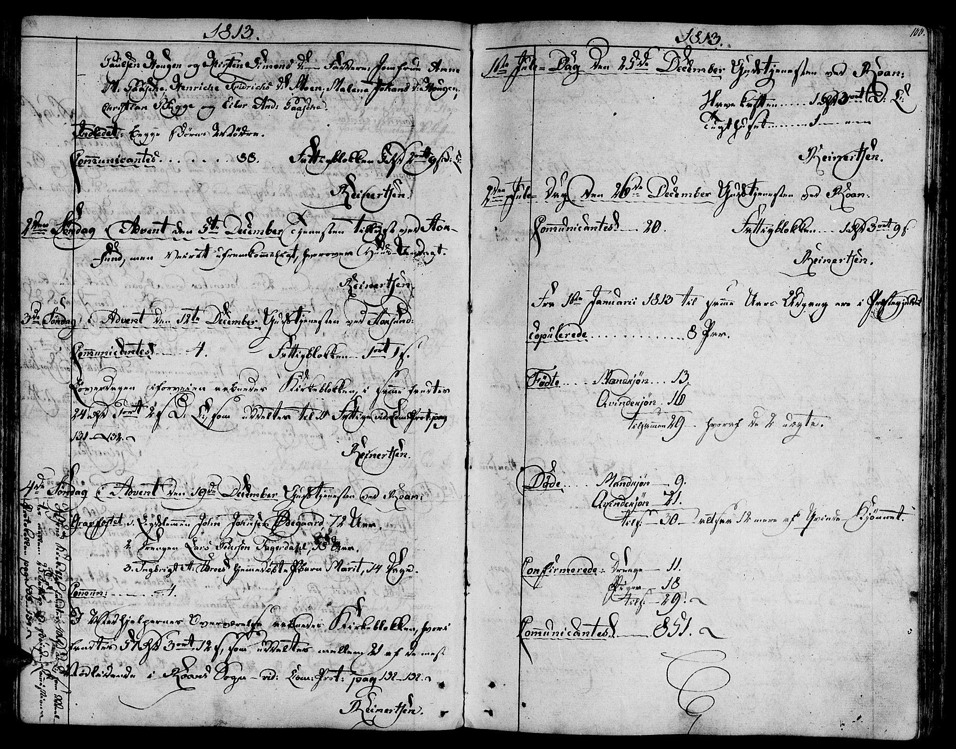 SAT, Ministerialprotokoller, klokkerbøker og fødselsregistre - Sør-Trøndelag, 657/L0701: Ministerialbok nr. 657A02, 1802-1831, s. 100
