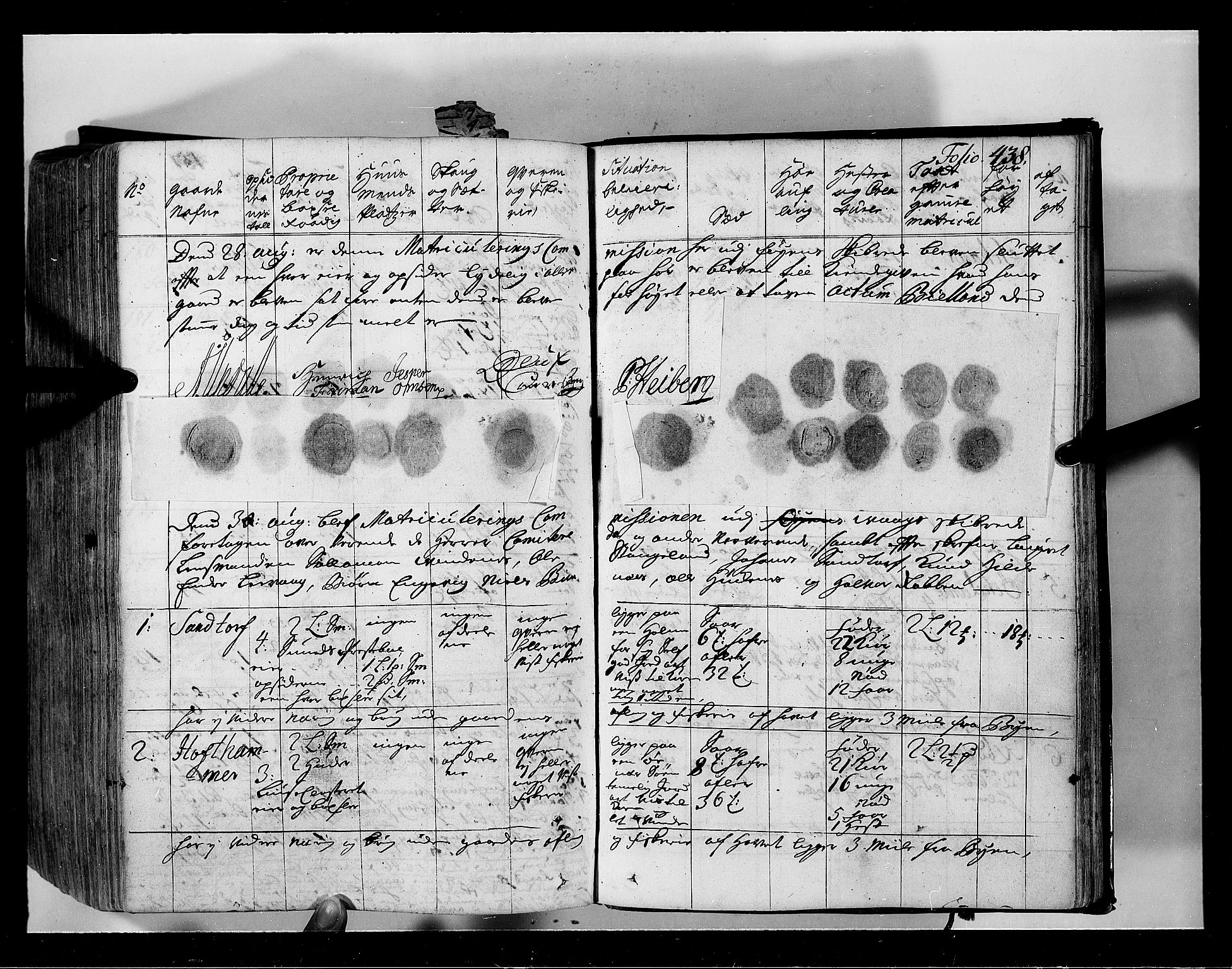 RA, Rentekammeret inntil 1814, Realistisk ordnet avdeling, N/Nb/Nbf/L0134: Sunnhordland eksaminasjonsprotokoll, 1723, s. 437b-438a