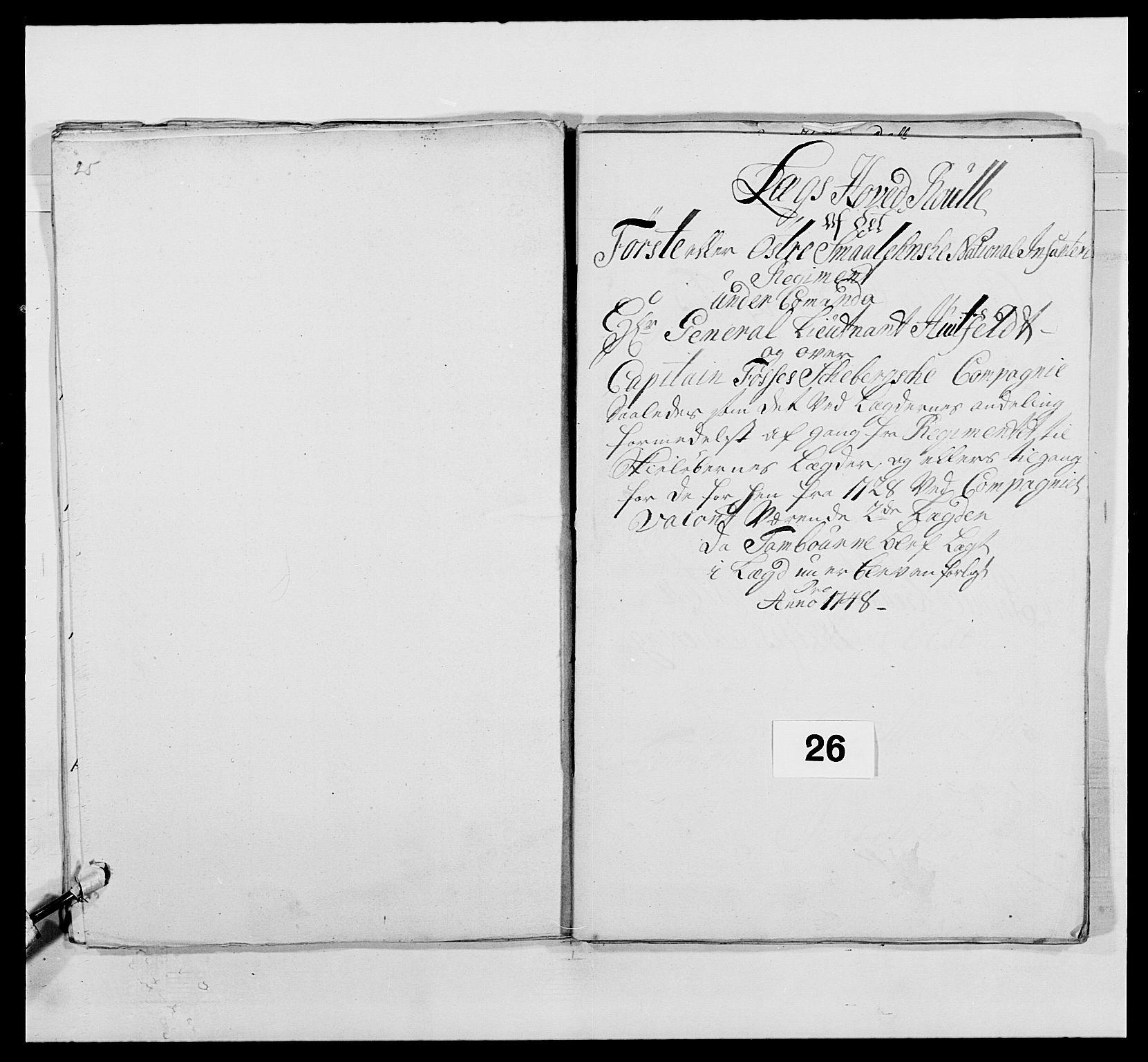 RA, Kommanderende general (KG I) med Det norske krigsdirektorium, E/Ea/L0495: 1. Smålenske regiment, 1732-1763, s. 386