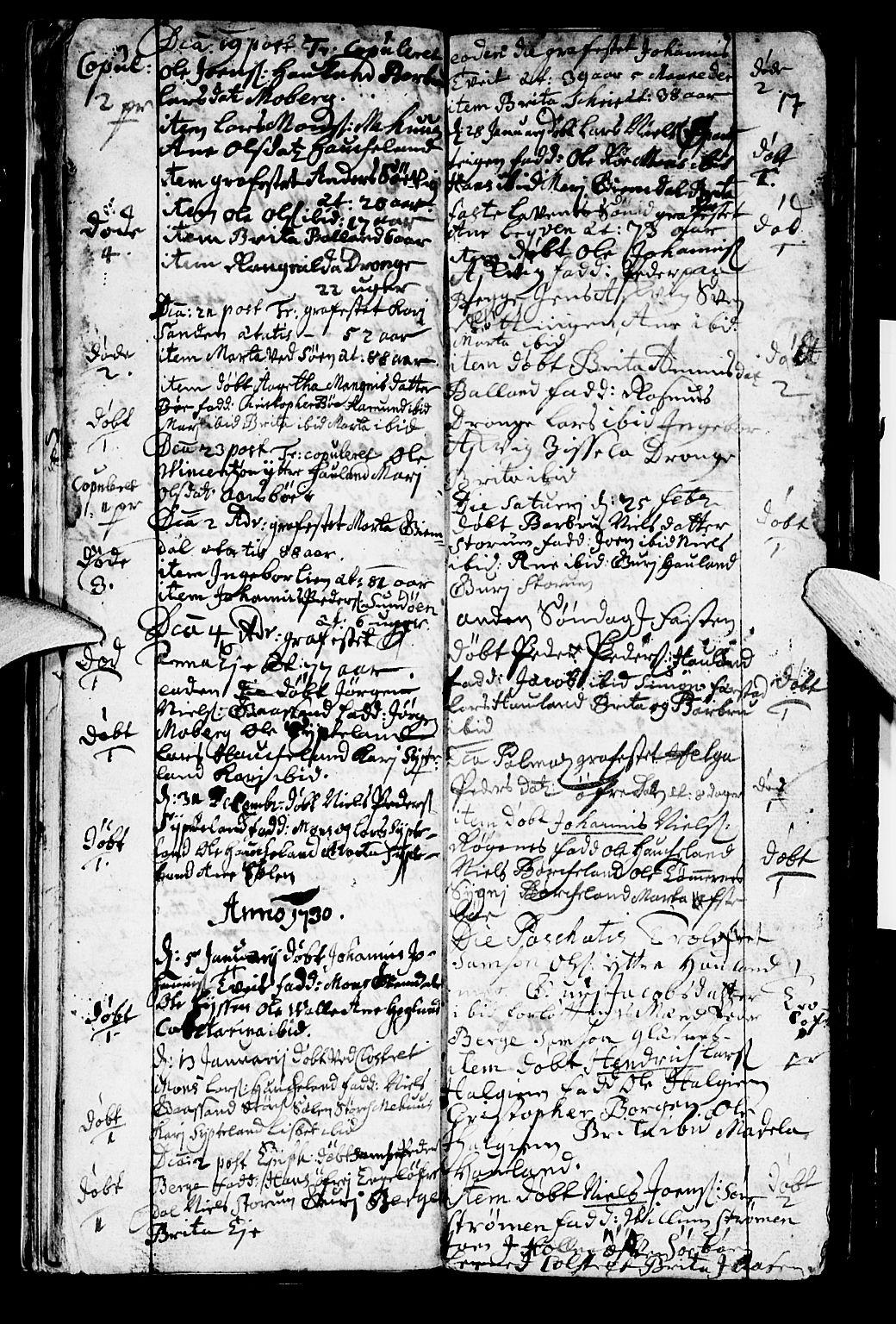 SAB, Os sokneprestembete*, Ministerialbok nr. A 2, 1723-1758, s. 17