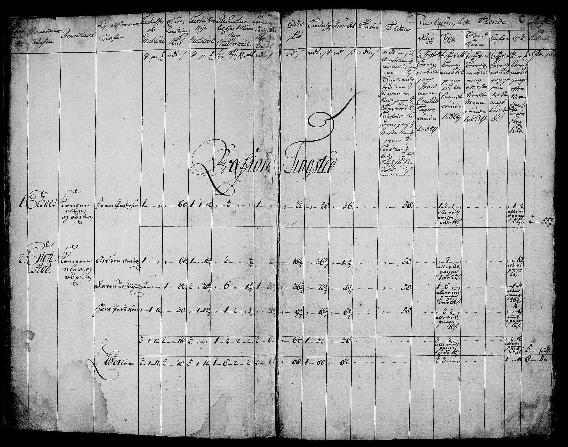 RA, Rentekammeret inntil 1814, Realistisk ordnet avdeling, N/Nb/Nbf/L0179: Senja matrikkelprotokoll, 1723, s. 1b-2a