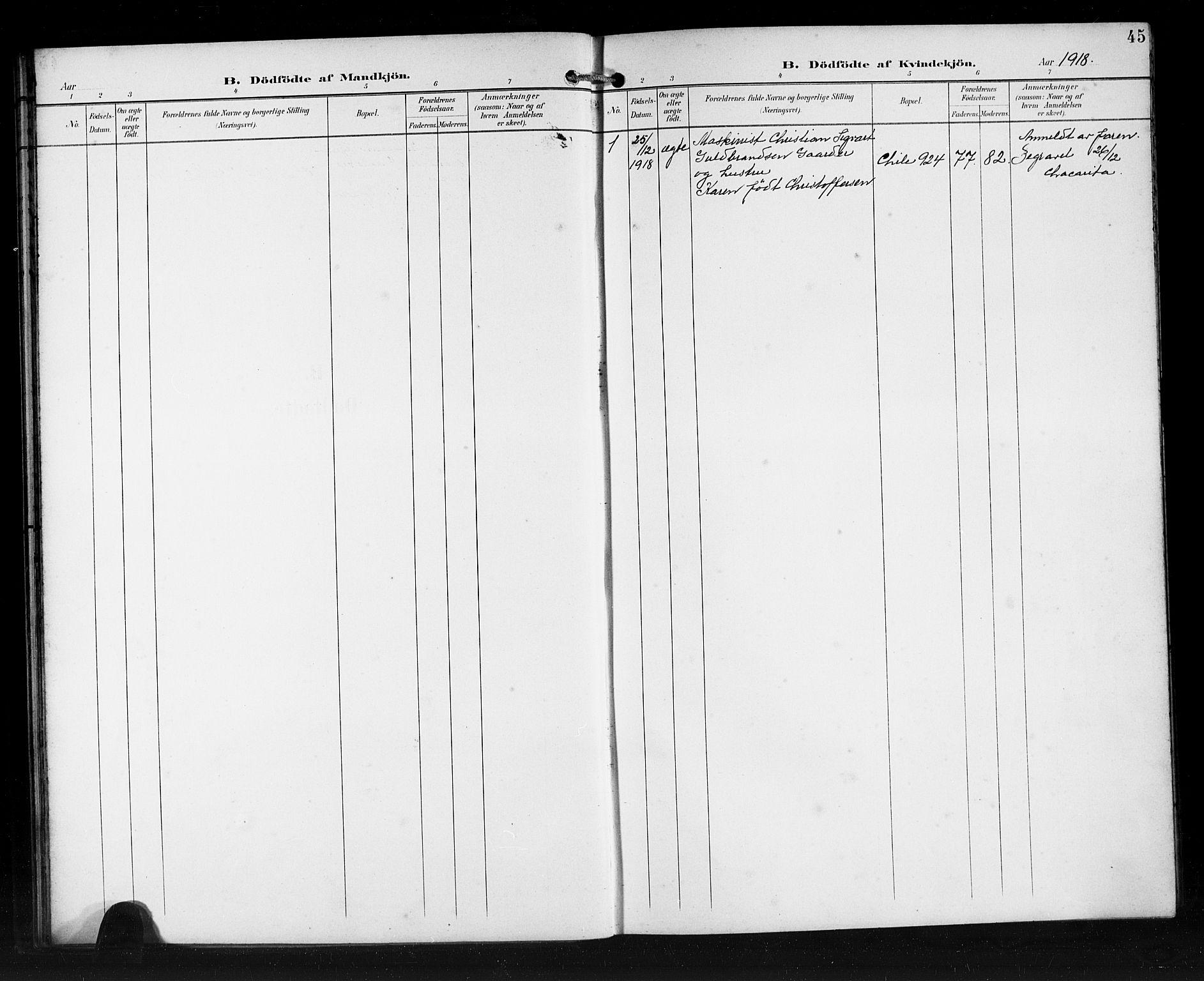 SAB, Den Norske Sjømannsmisjon i utlandet*, Ministerialbok nr. A 2, 1899-1919, s. 45