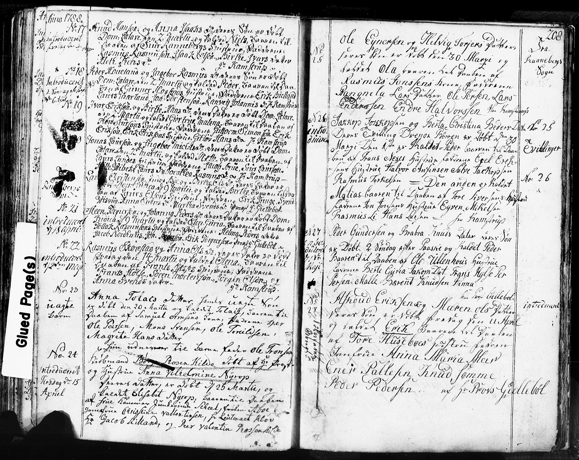 SAST, Domkirken sokneprestkontor, 30/30BB/L0004: Klokkerbok nr. B 4, 1752-1790, s. 208