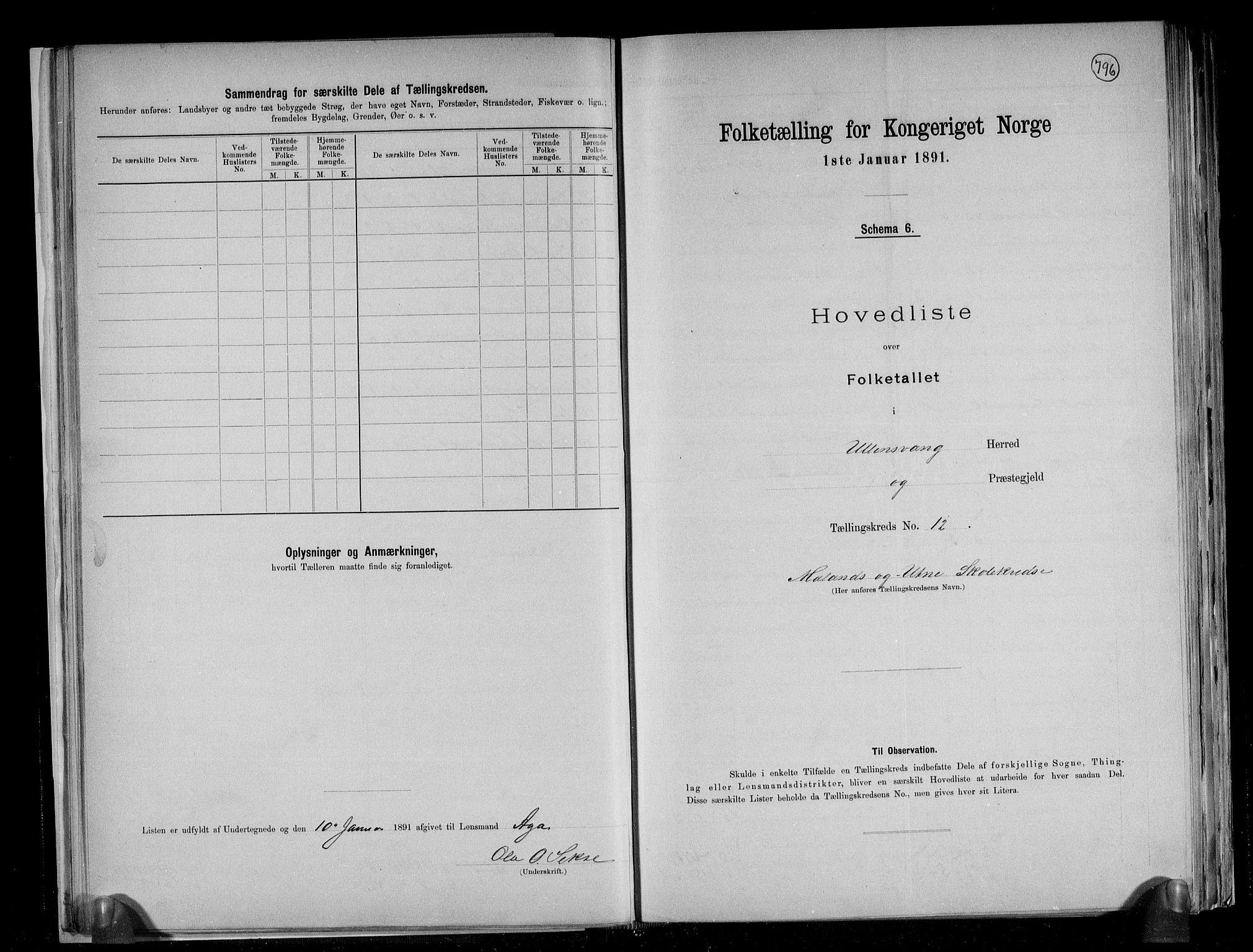 RA, Folketelling 1891 for 1230 Ullensvang herred, 1891, s. 33