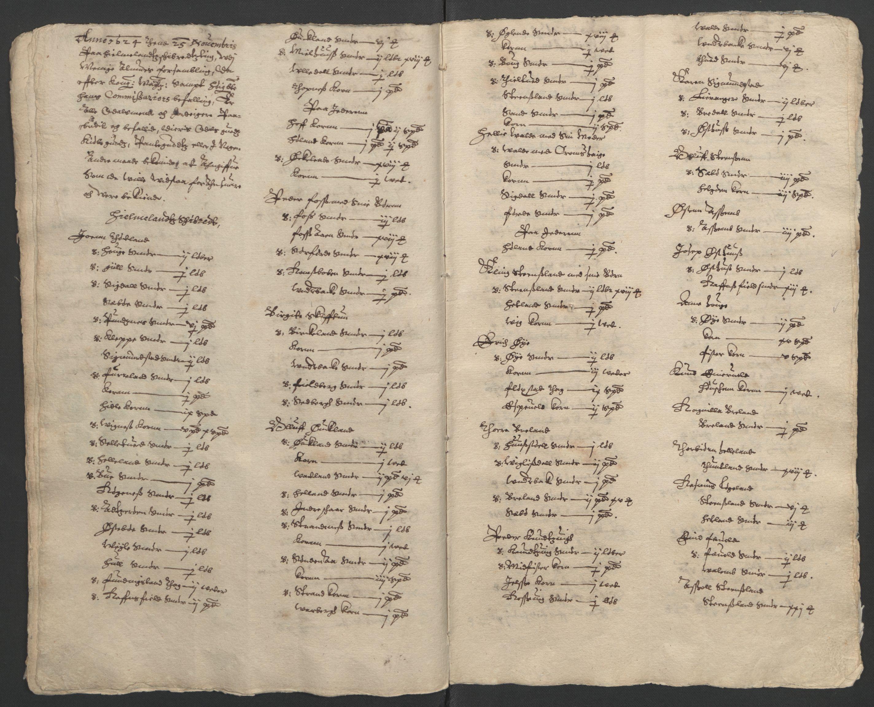 RA, Stattholderembetet 1572-1771, Ek/L0010: Jordebøker til utlikning av rosstjeneste 1624-1626:, 1624-1626, s. 24