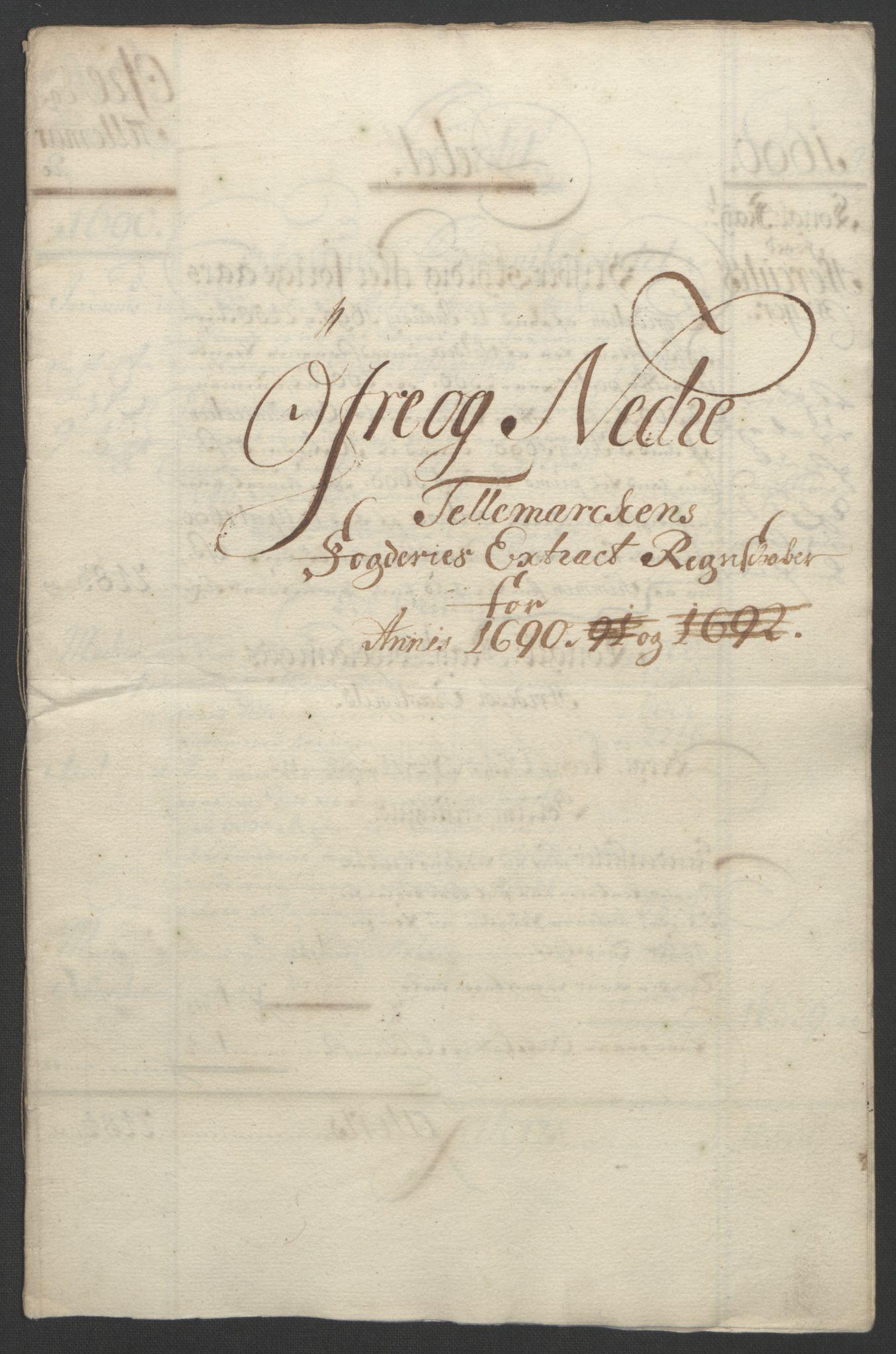 RA, Rentekammeret inntil 1814, Reviderte regnskaper, Fogderegnskap, R35/L2091: Fogderegnskap Øvre og Nedre Telemark, 1690-1693, s. 4