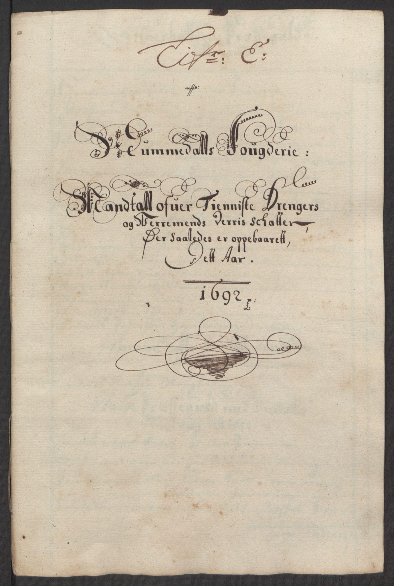 RA, Rentekammeret inntil 1814, Reviderte regnskaper, Fogderegnskap, R64/L4424: Fogderegnskap Namdal, 1692-1695, s. 26
