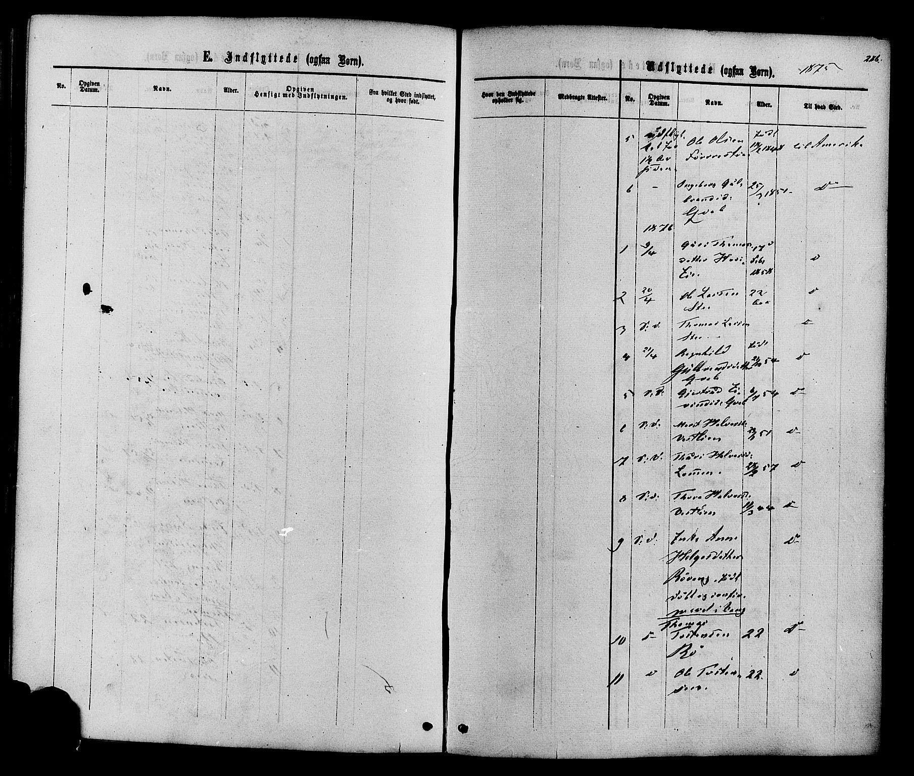 SAH, Vestre Slidre prestekontor, Ministerialbok nr. 3, 1865-1880, s. 286