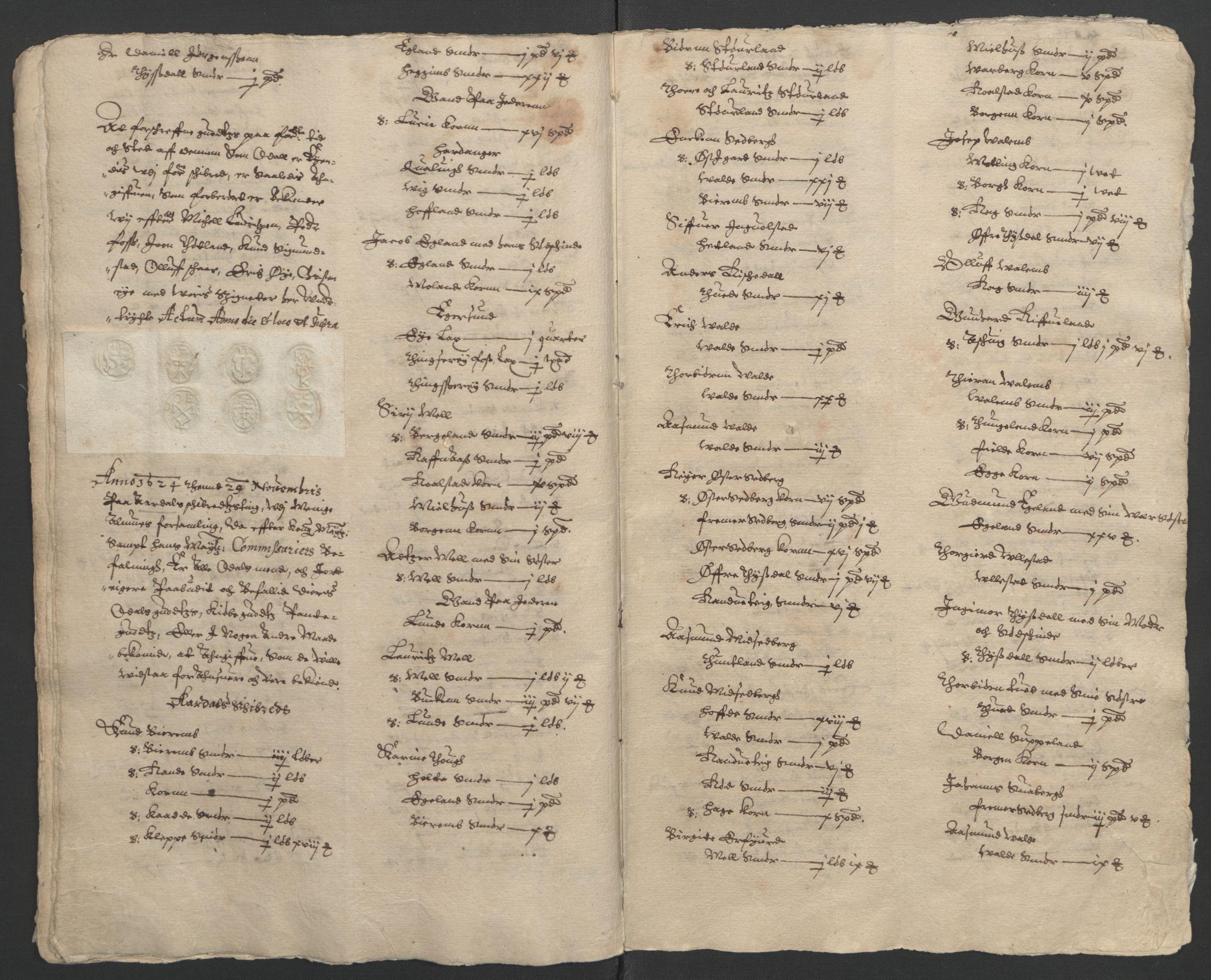 RA, Stattholderembetet 1572-1771, Ek/L0010: Jordebøker til utlikning av rosstjeneste 1624-1626:, 1624-1626, s. 26