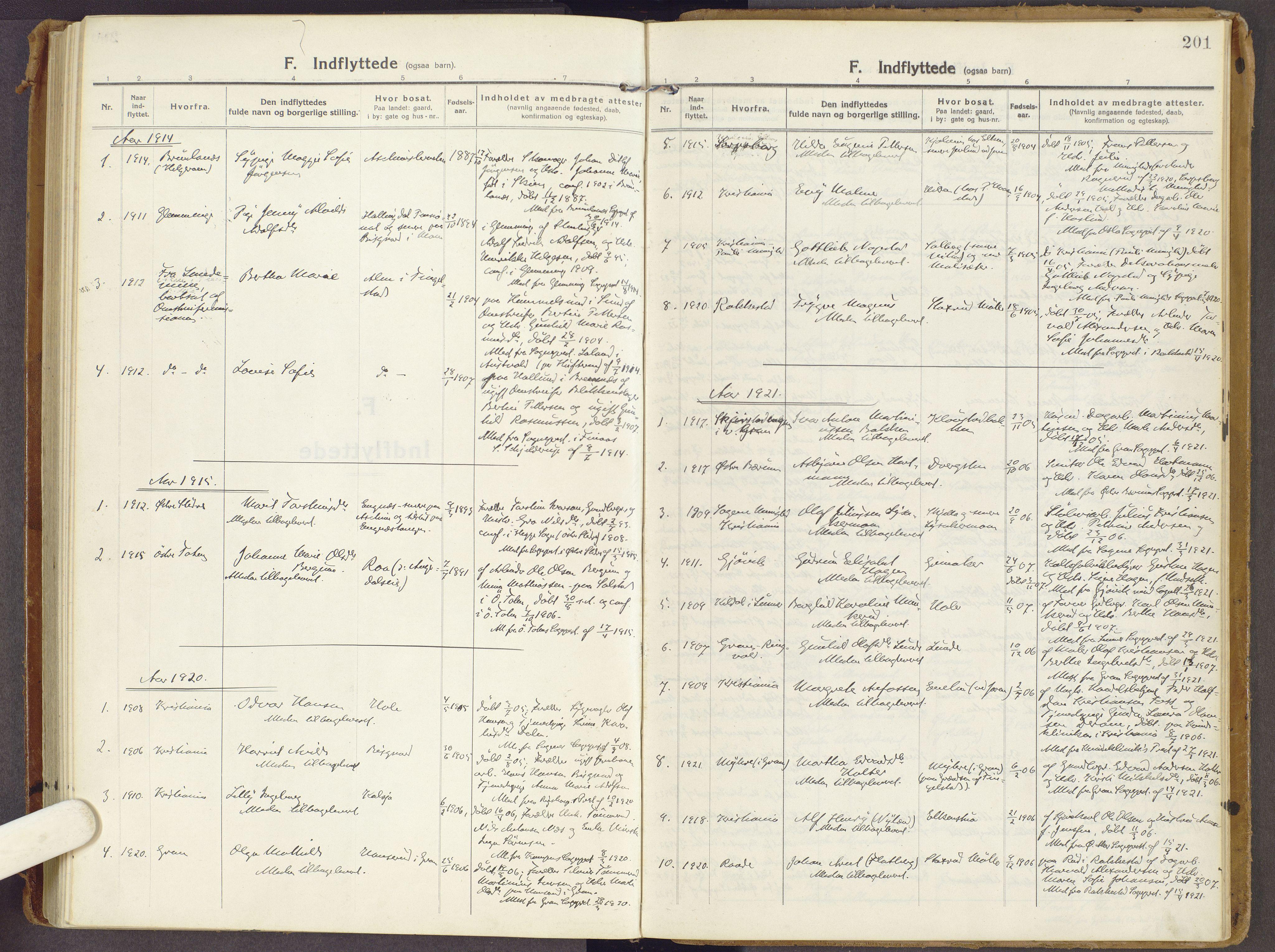 SAH, Brandbu prestekontor, Ministerialbok nr. 3, 1914-1928, s. 201