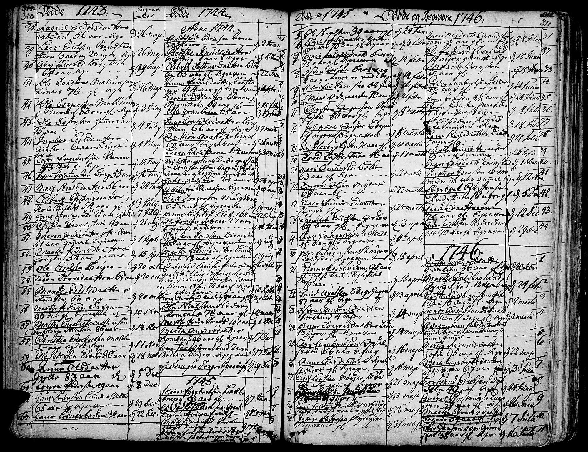 SAH, Ringebu prestekontor, Ministerialbok nr. 2, 1734-1780, s. 310-311