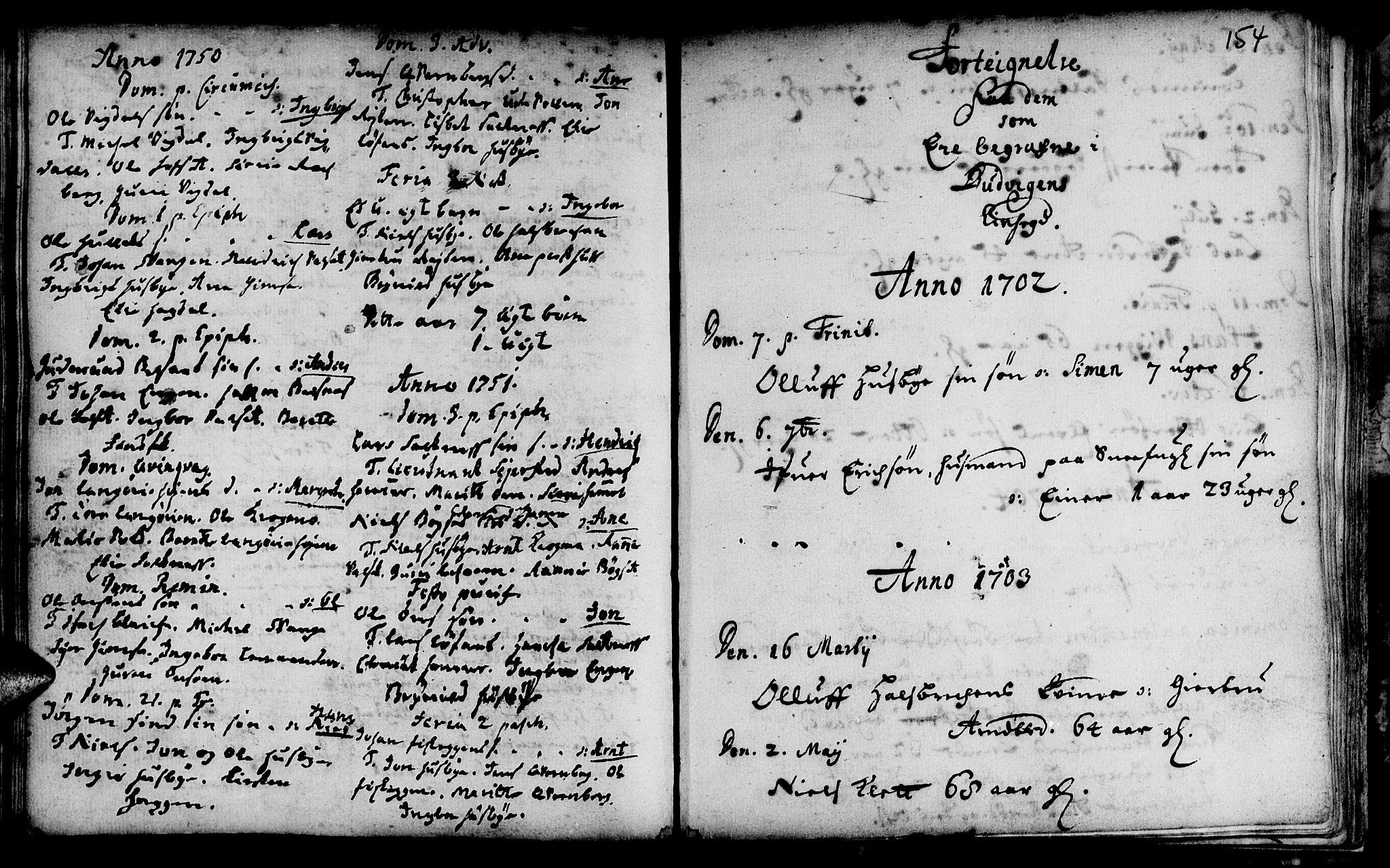 SAT, Ministerialprotokoller, klokkerbøker og fødselsregistre - Sør-Trøndelag, 666/L0783: Ministerialbok nr. 666A01, 1702-1753, s. 154