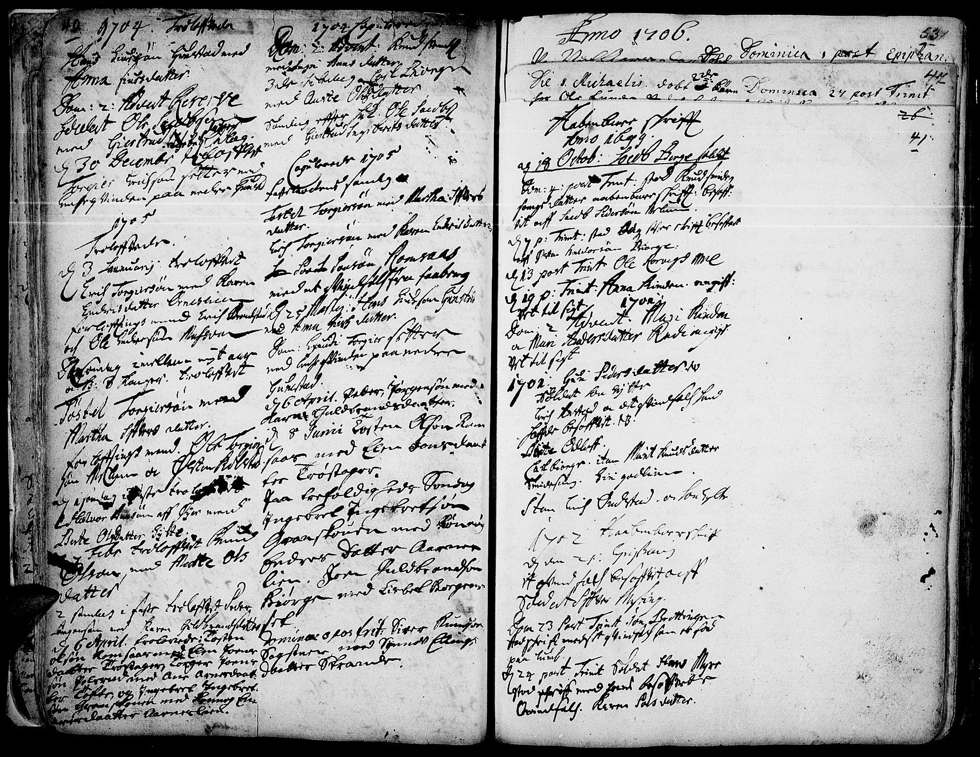 SAH, Ringebu prestekontor, Ministerialbok nr. 1, 1696-1733, s. 40-41