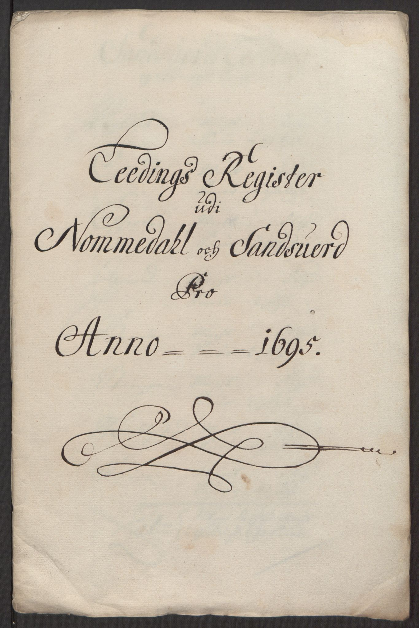 RA, Rentekammeret inntil 1814, Reviderte regnskaper, Fogderegnskap, R24/L1575: Fogderegnskap Numedal og Sandsvær, 1692-1695, s. 267