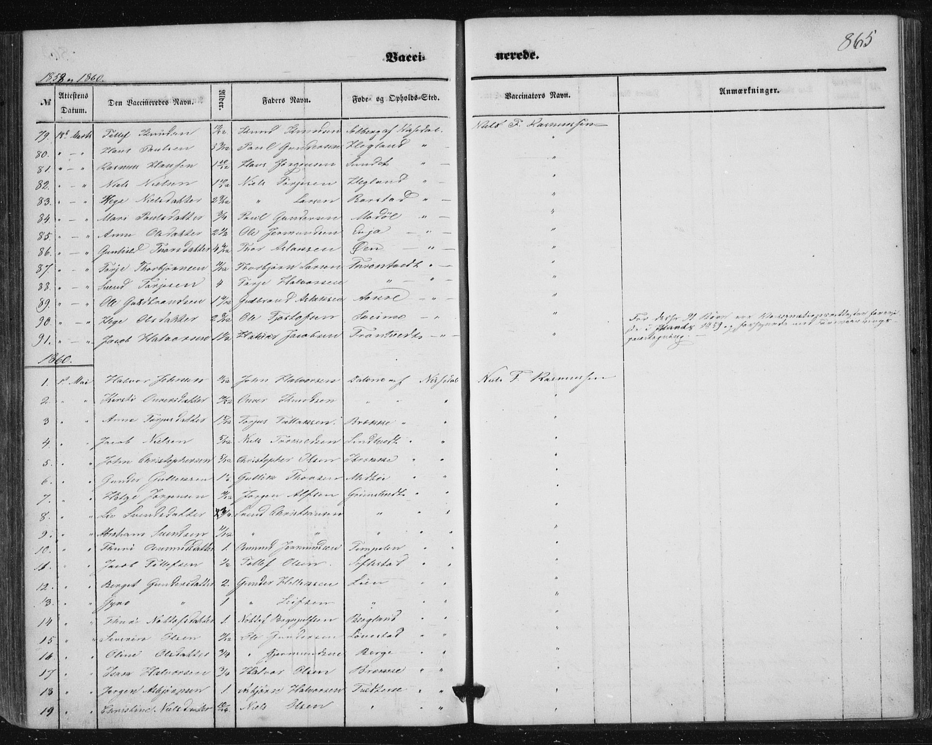 SAKO, Nissedal kirkebøker, F/Fa/L0003: Ministerialbok nr. I 3, 1846-1870, s. 864-865