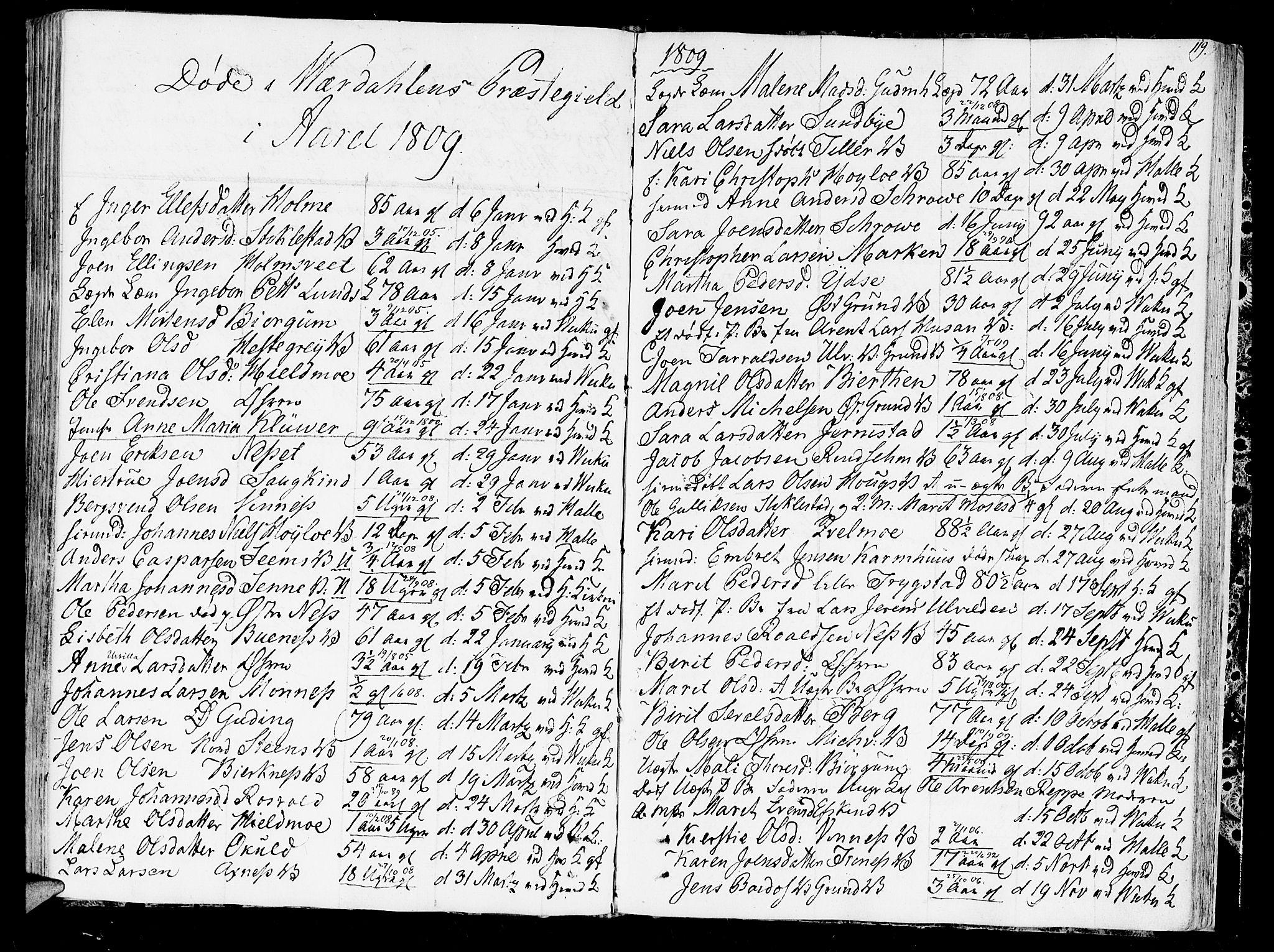 SAT, Ministerialprotokoller, klokkerbøker og fødselsregistre - Nord-Trøndelag, 723/L0233: Ministerialbok nr. 723A04, 1805-1816, s. 119