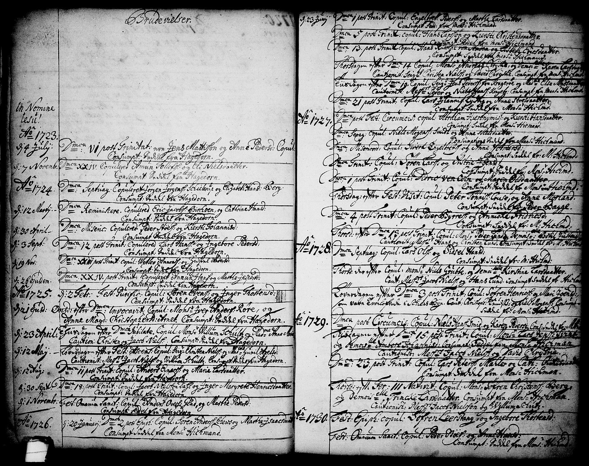 SAKO, Brevik kirkebøker, F/Fa/L0002: Ministerialbok nr. 2, 1720-1764, s. 13