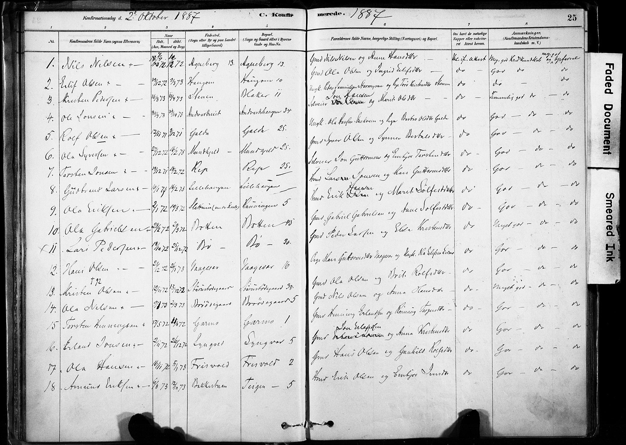 SAH, Lom prestekontor, K/L0009: Ministerialbok nr. 9, 1878-1907, s. 25