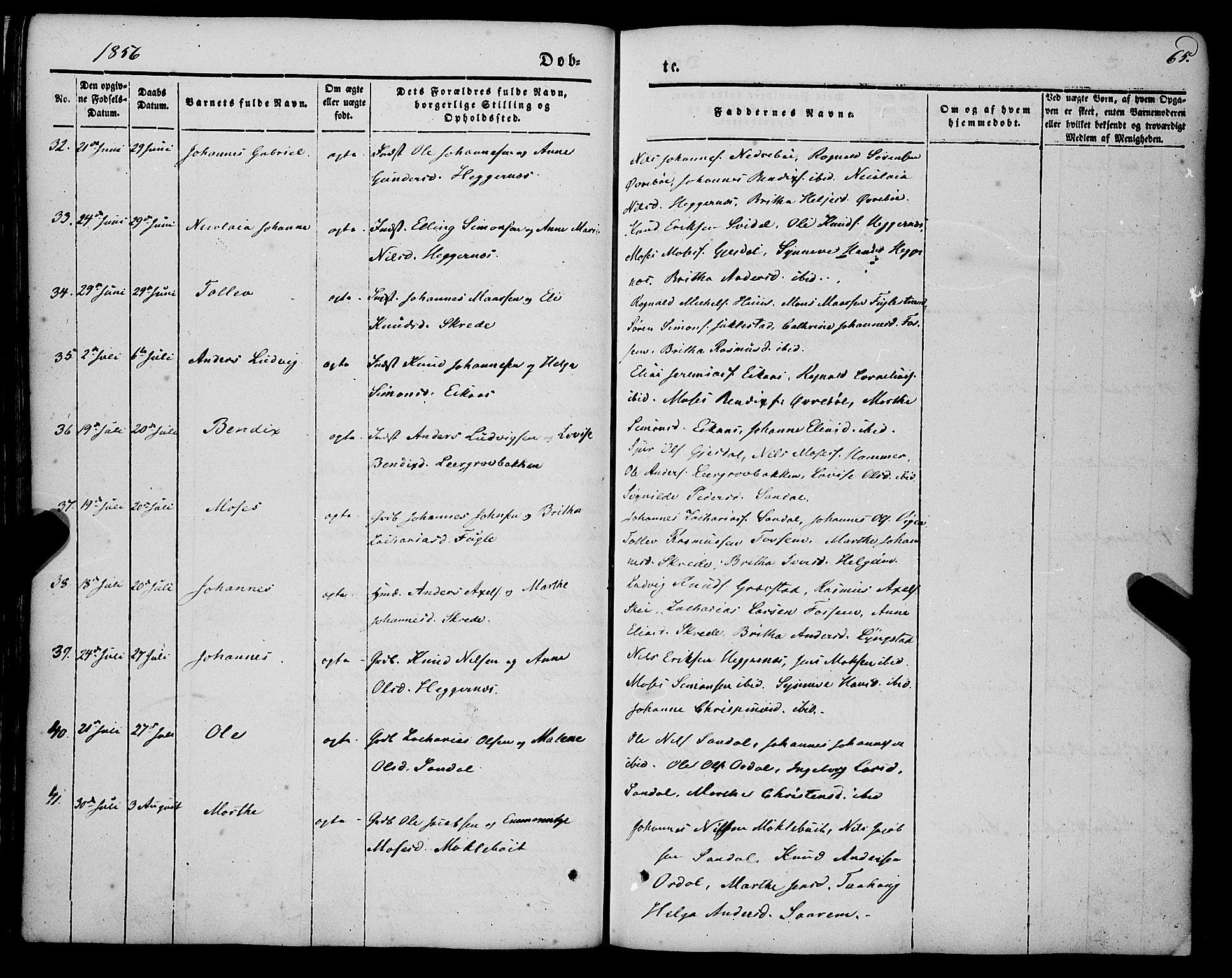 SAB, Jølster sokneprestembete, H/Haa/Haaa/L0010: Ministerialbok nr. A 10, 1847-1865, s. 65
