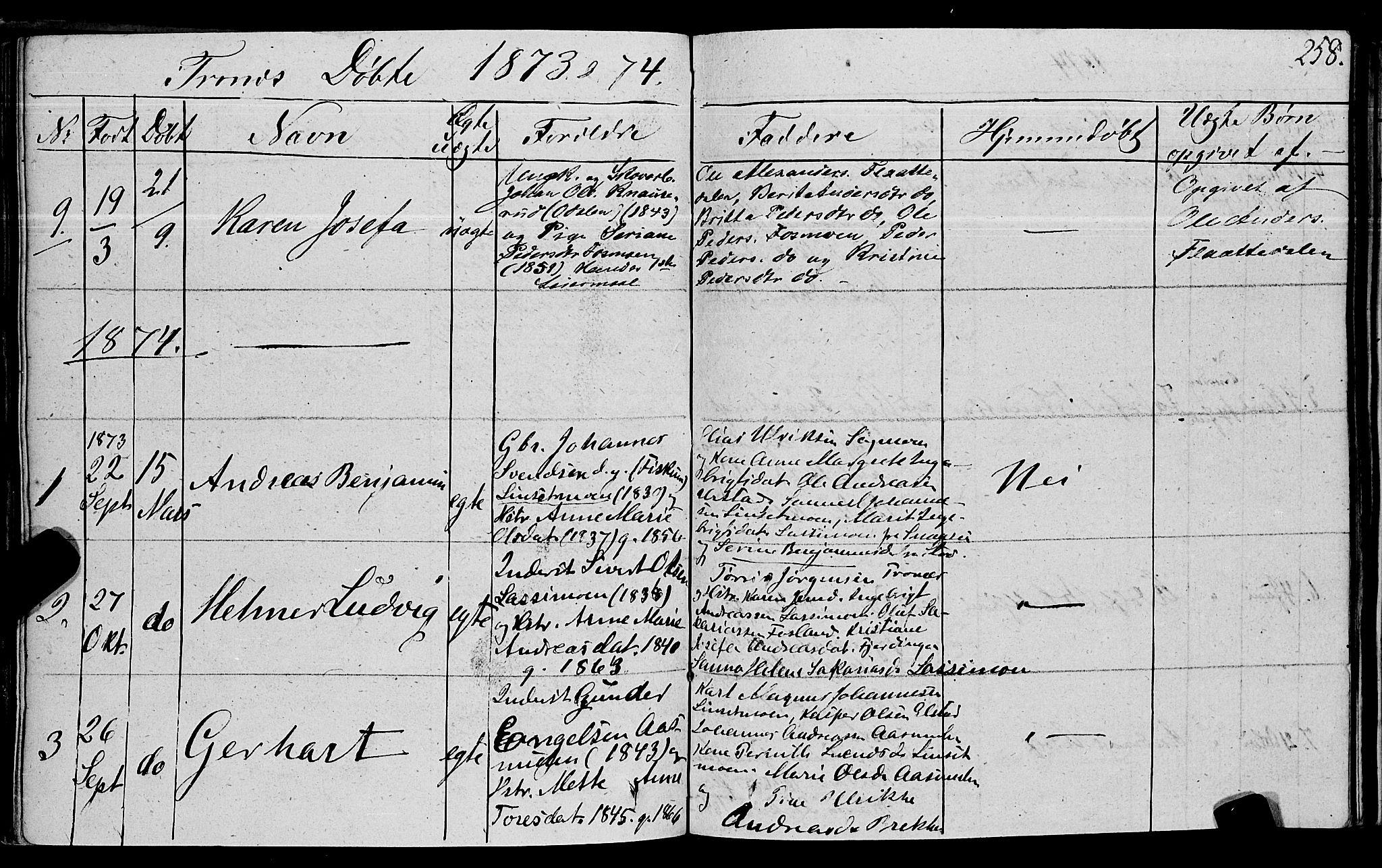 SAT, Ministerialprotokoller, klokkerbøker og fødselsregistre - Nord-Trøndelag, 762/L0538: Ministerialbok nr. 762A02 /2, 1833-1879, s. 258