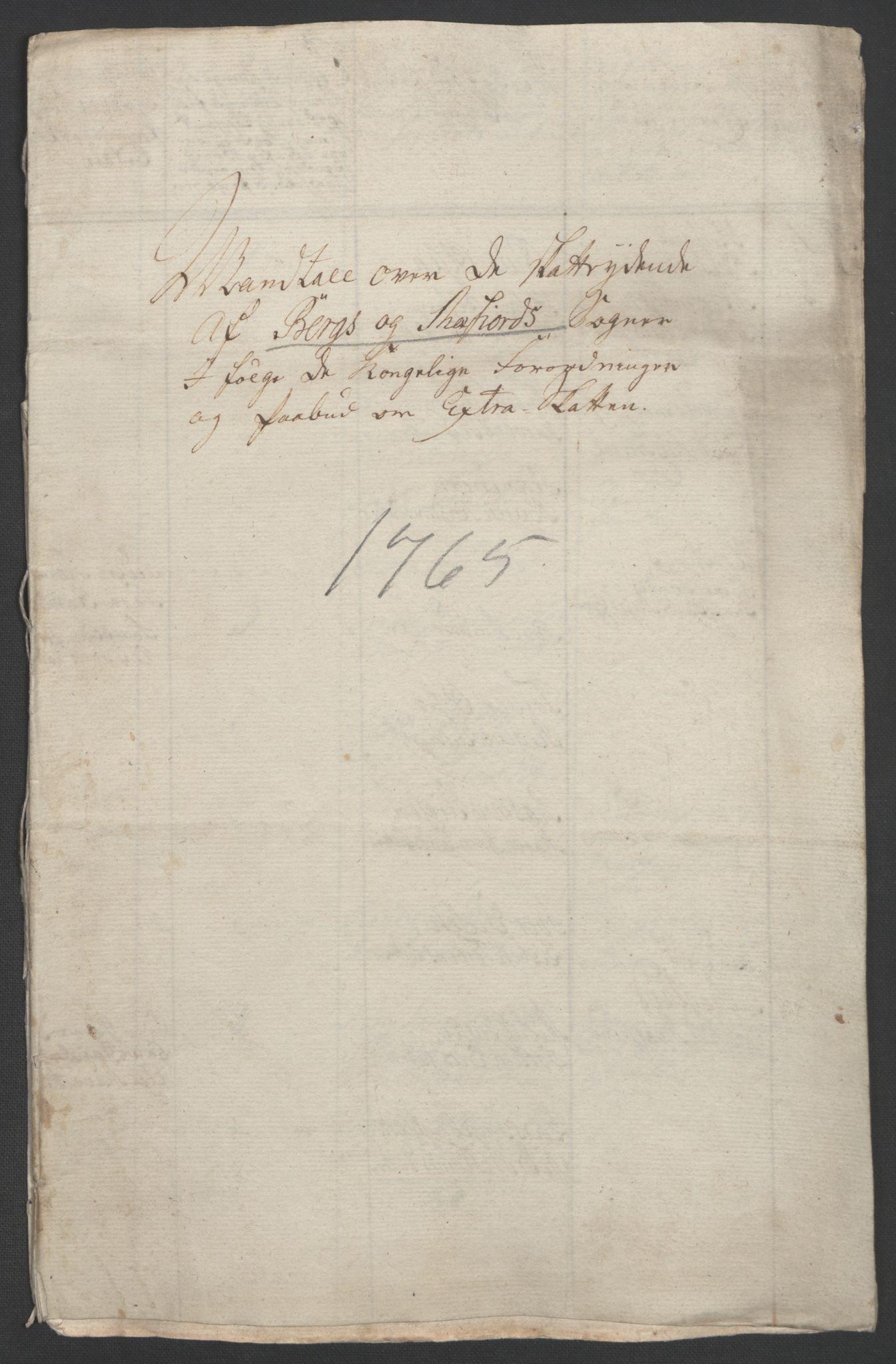 RA, Rentekammeret inntil 1814, Realistisk ordnet avdeling, Ol/L0022b: [Gg 10]: Ekstraskatten, 23.09.1762. Senja og Troms, 1765-1768, s. 57