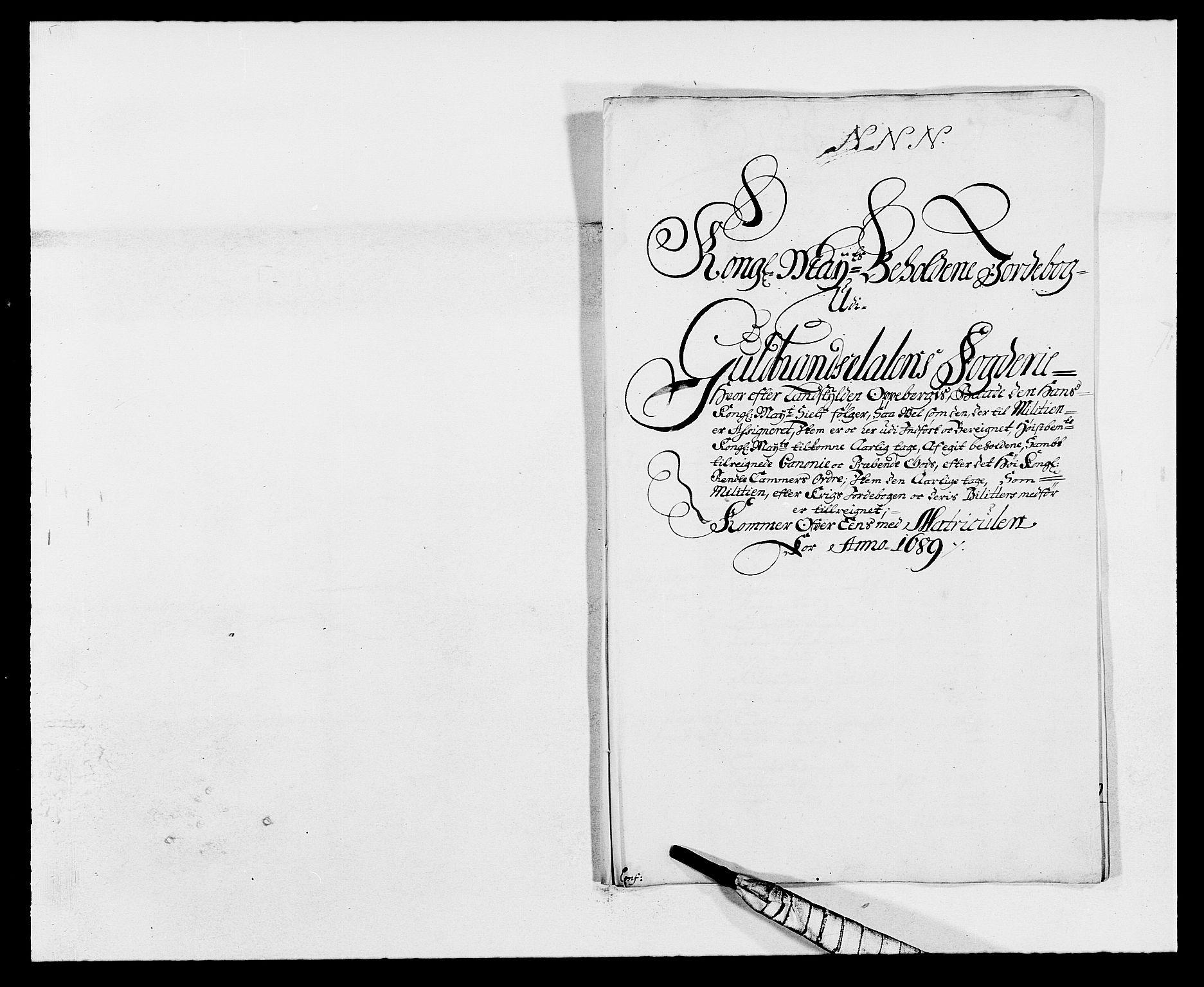 RA, Rentekammeret inntil 1814, Reviderte regnskaper, Fogderegnskap, R17/L1164: Fogderegnskap Gudbrandsdal, 1682-1689, s. 78