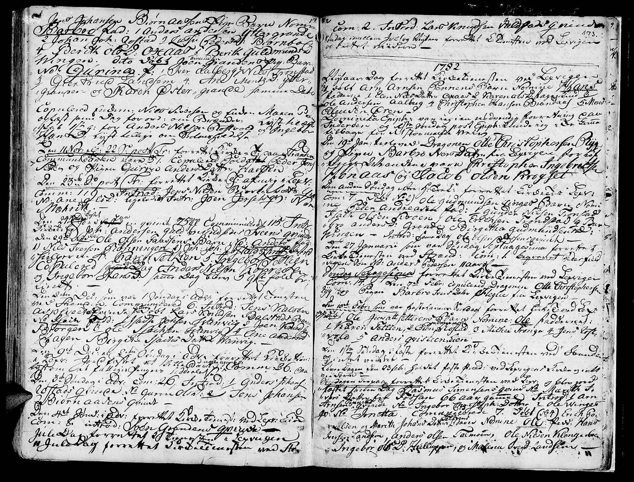SAT, Ministerialprotokoller, klokkerbøker og fødselsregistre - Nord-Trøndelag, 701/L0003: Ministerialbok nr. 701A03, 1751-1783, s. 173