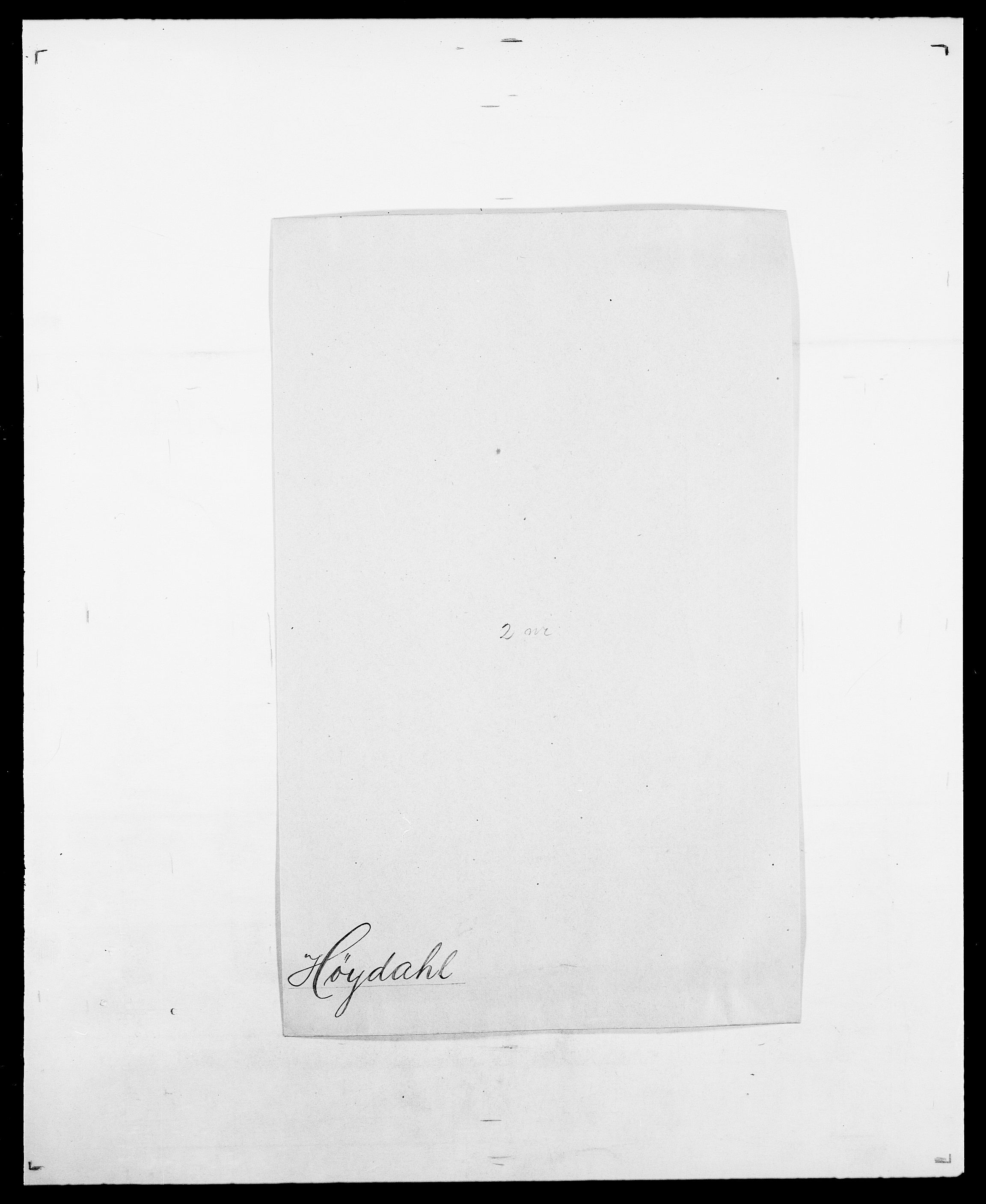 SAO, Delgobe, Charles Antoine - samling, D/Da/L0019: van der Hude - Joys, s. 406