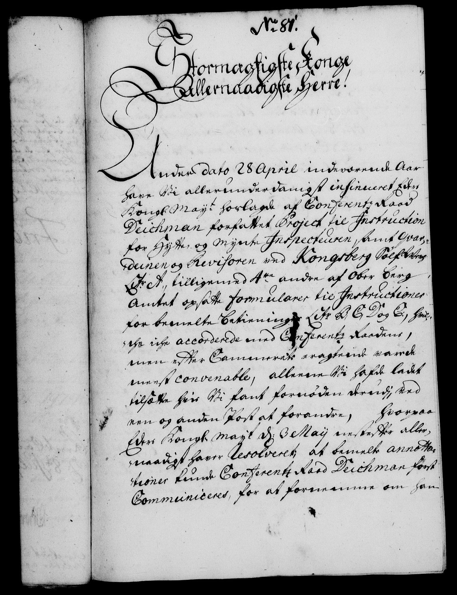RA, Rentekammeret, Kammerkanselliet, G/Gf/Gfa/L0013: Norsk relasjons- og resolusjonsprotokoll (merket RK 52.13), 1730, s. 455