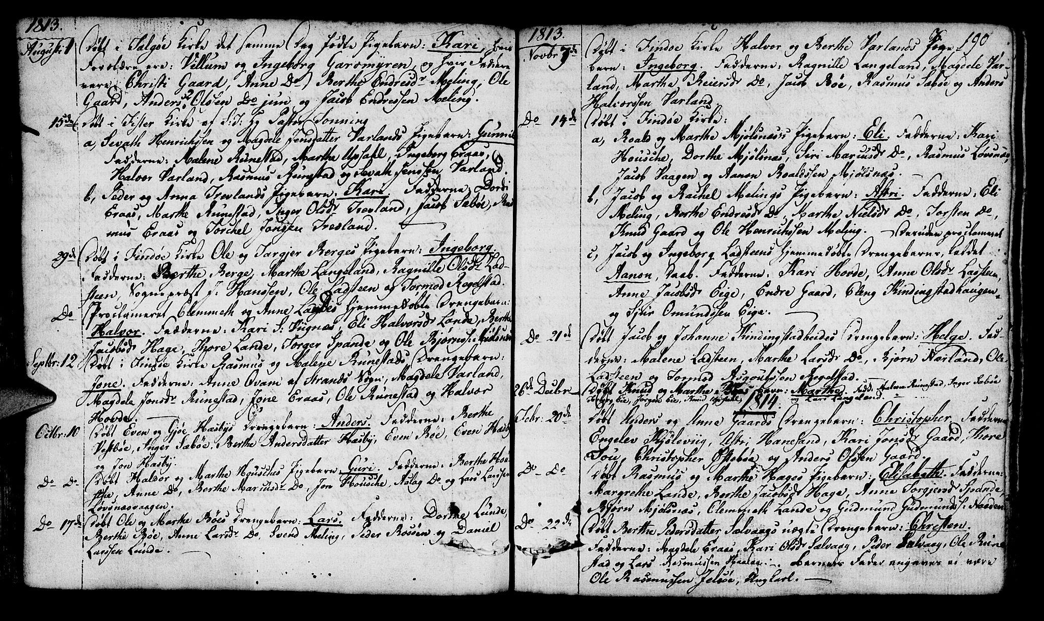 SAST, Finnøy sokneprestkontor, H/Ha/Haa/L0005: Ministerialbok nr. A 5, 1773-1816, s. 190