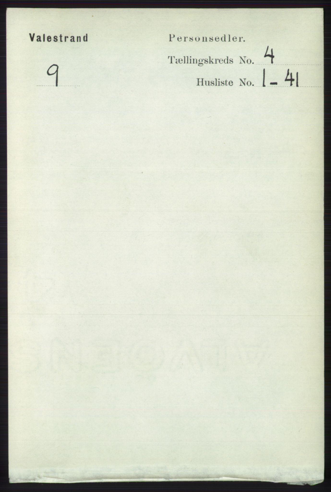 RA, Folketelling 1891 for 1217 Valestrand herred, 1891, s. 872