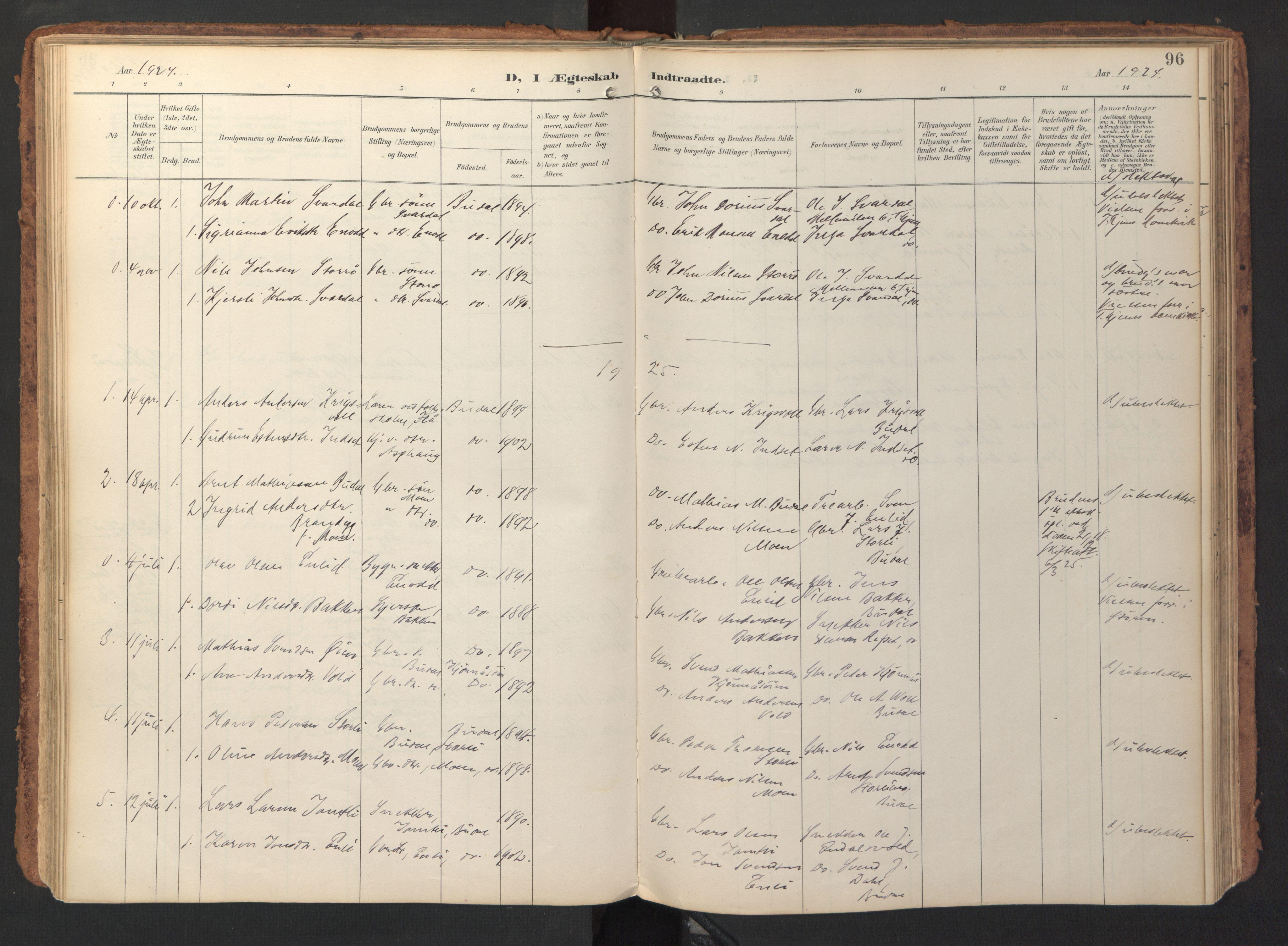SAT, Ministerialprotokoller, klokkerbøker og fødselsregistre - Sør-Trøndelag, 690/L1050: Ministerialbok nr. 690A01, 1889-1929, s. 96