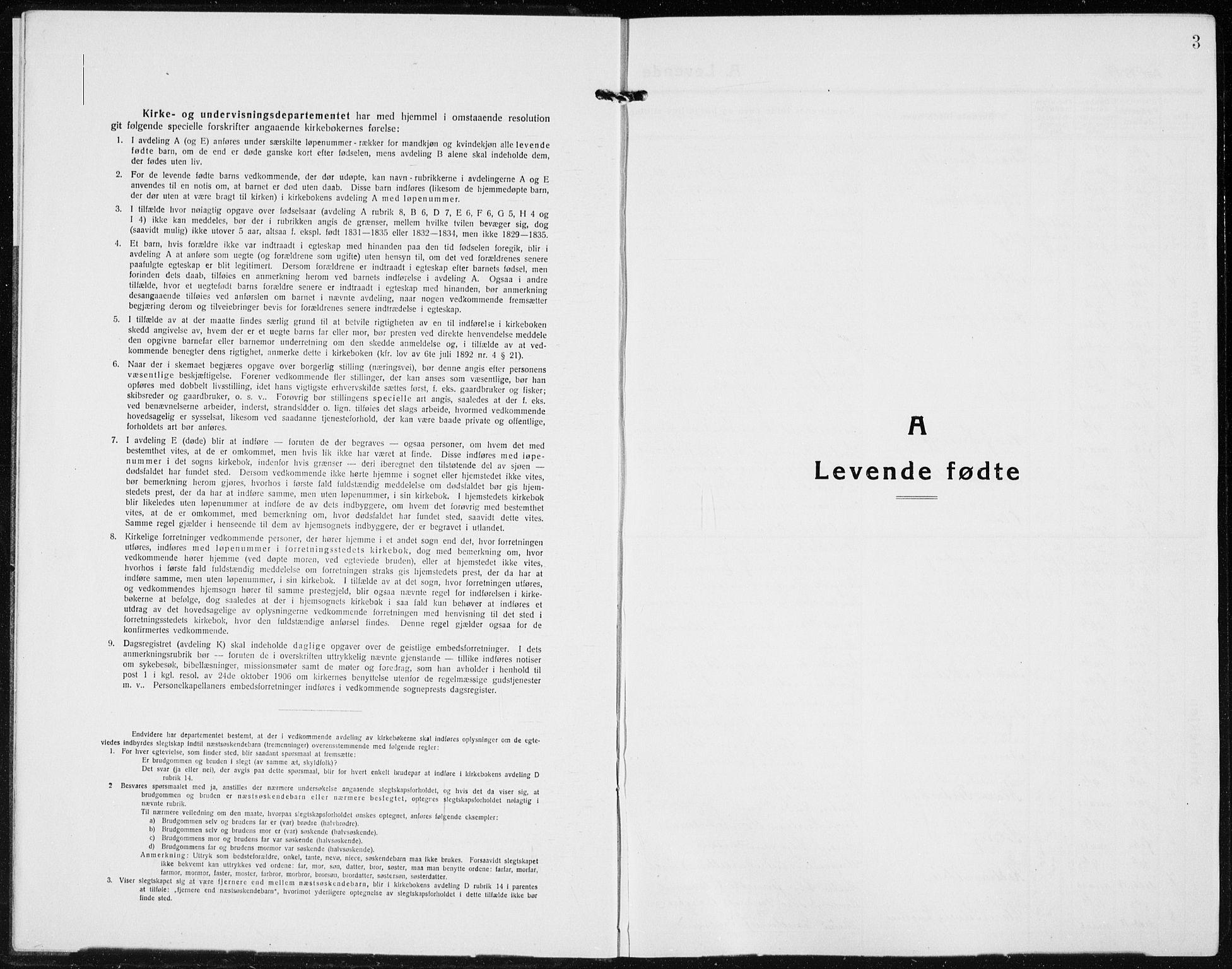 SAH, Jevnaker prestekontor, Klokkerbok nr. 5, 1919-1934, s. 3
